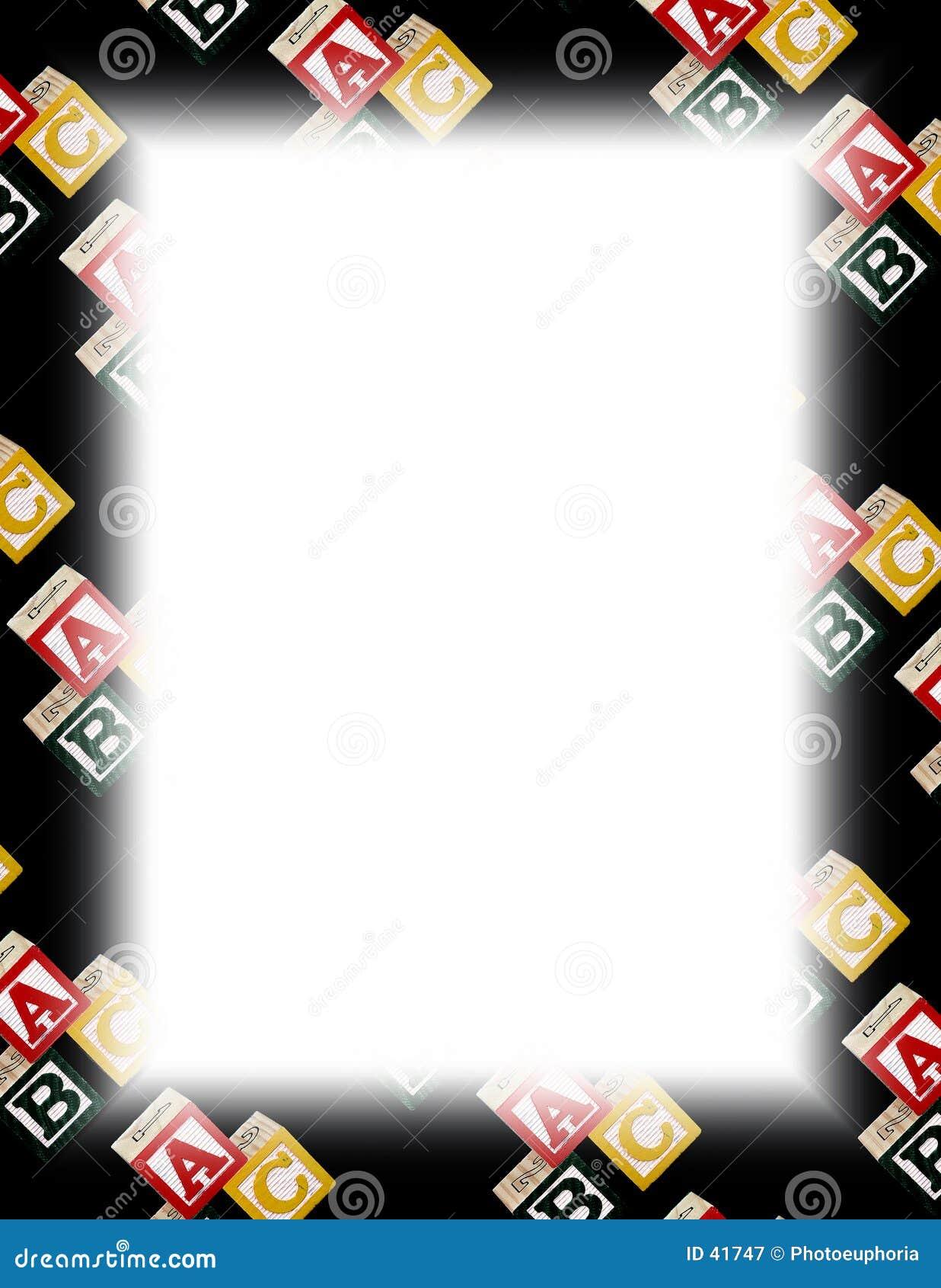 белизна рамки блока алфавита