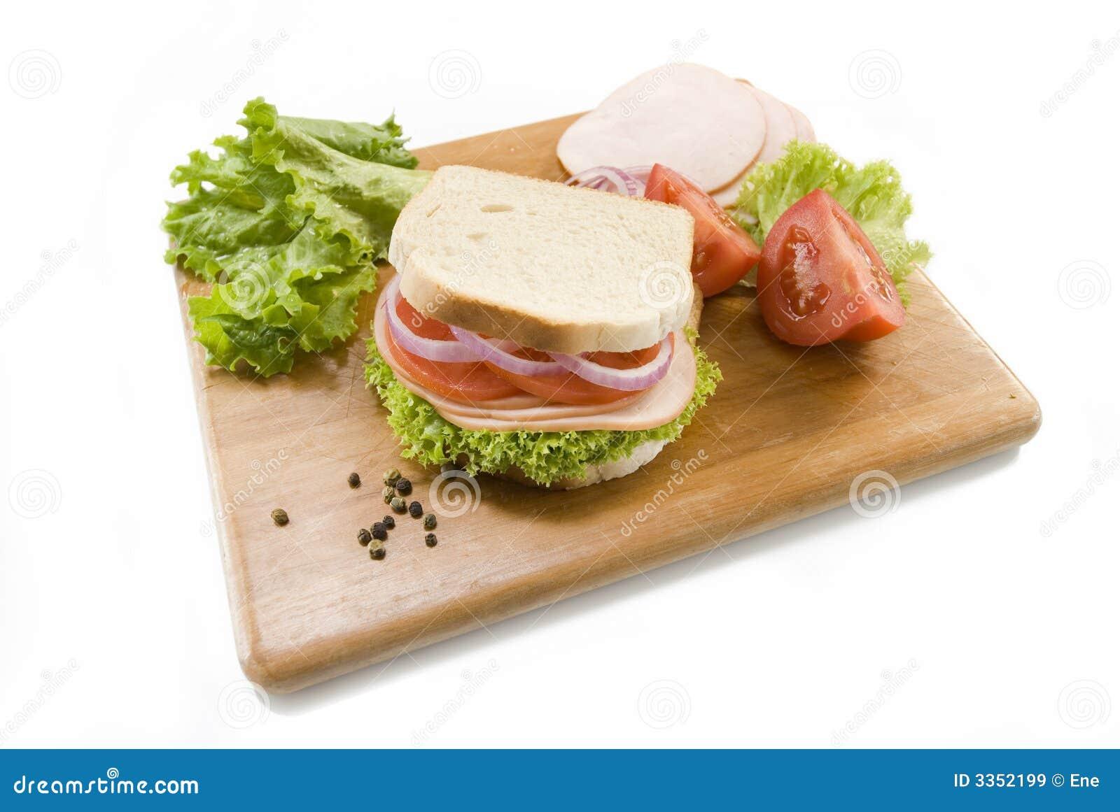 белизна сандвича хлеба