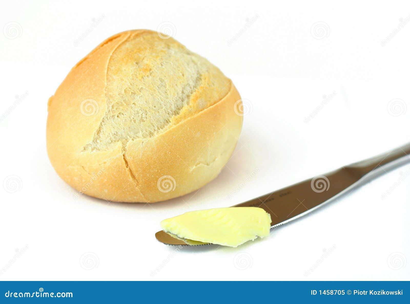 белизна хлеба изолированная маслом