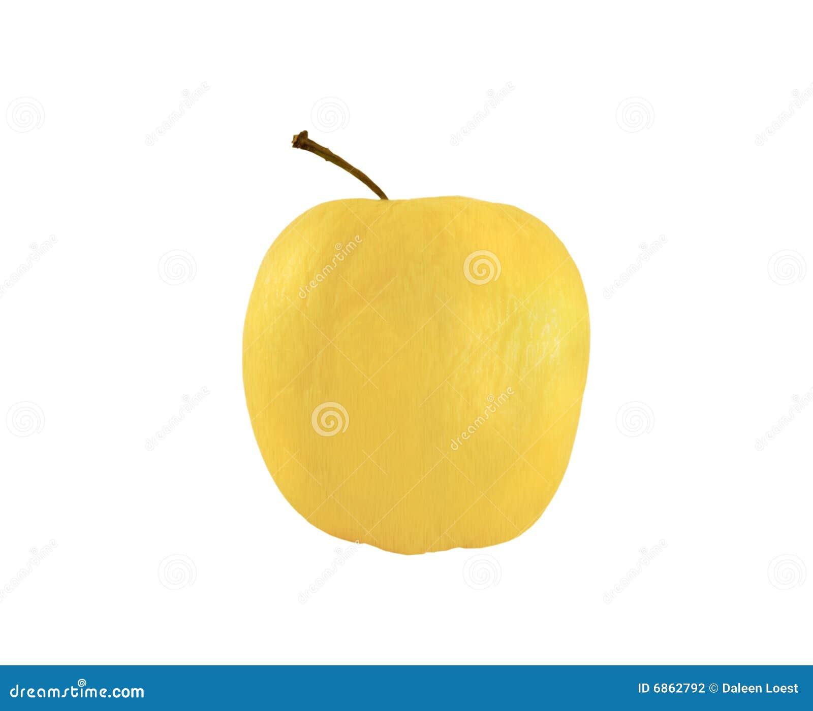белизна яблока золотистая изолированная