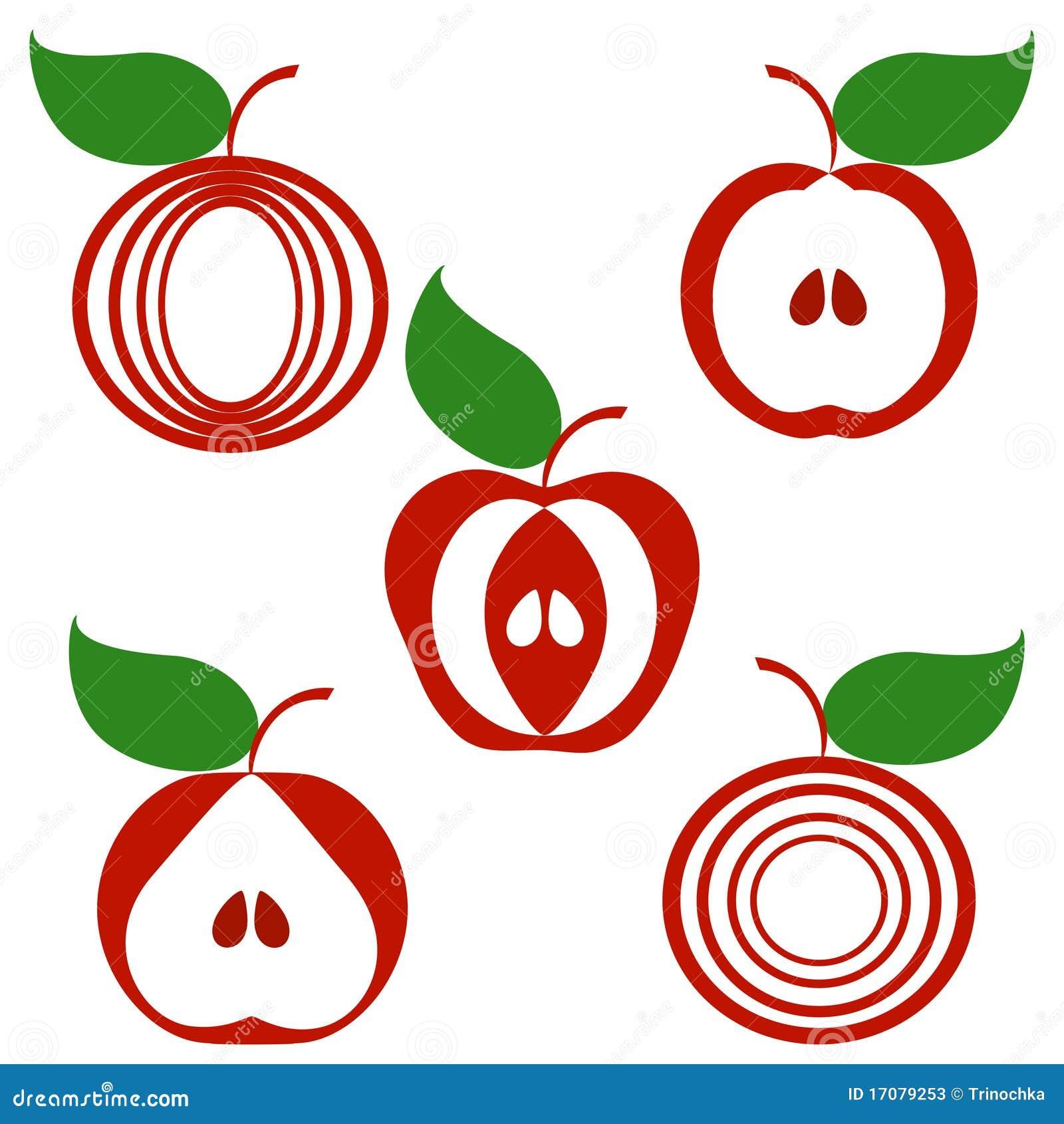 белизна яблок изолированная предпосылкой установленная