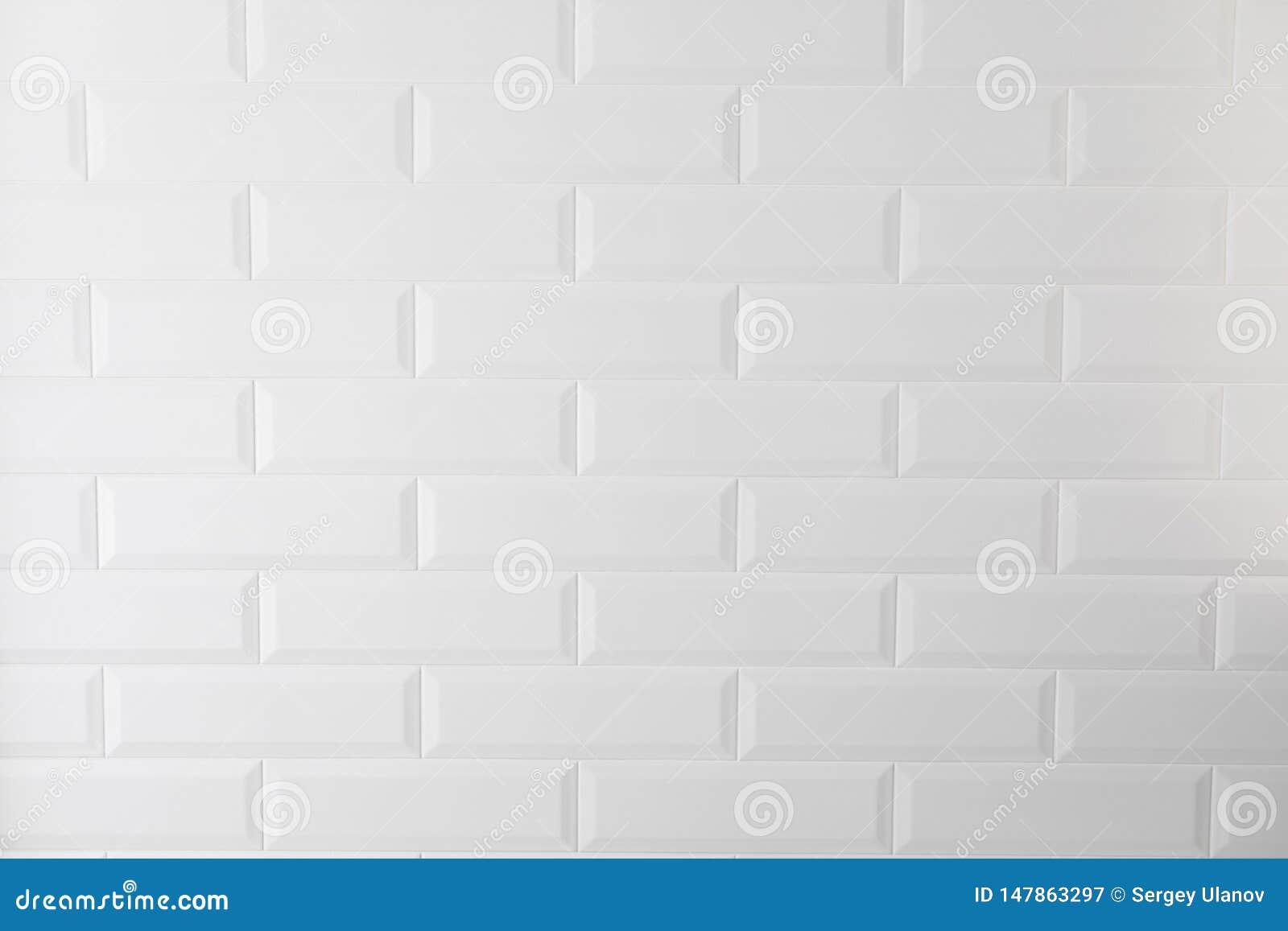 Белые плитки текстуры в кухне или bathroom