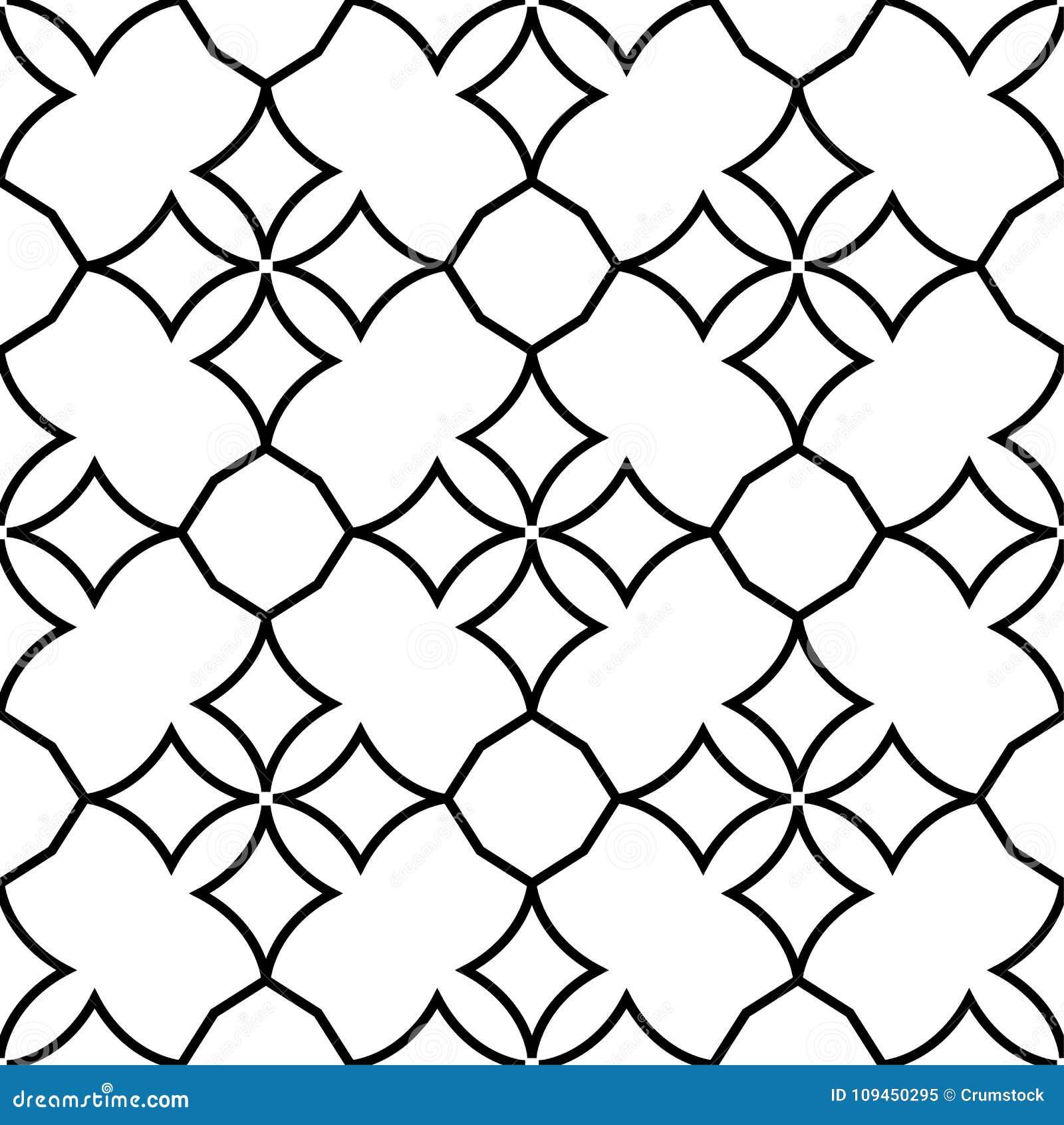 Белый и черный геометрический орнамент картина безшовная