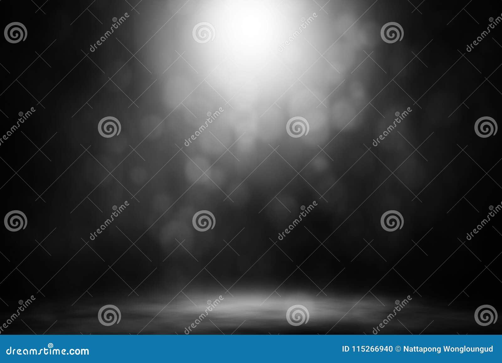 Белый ночной клуб этапа дыма bokeh фары