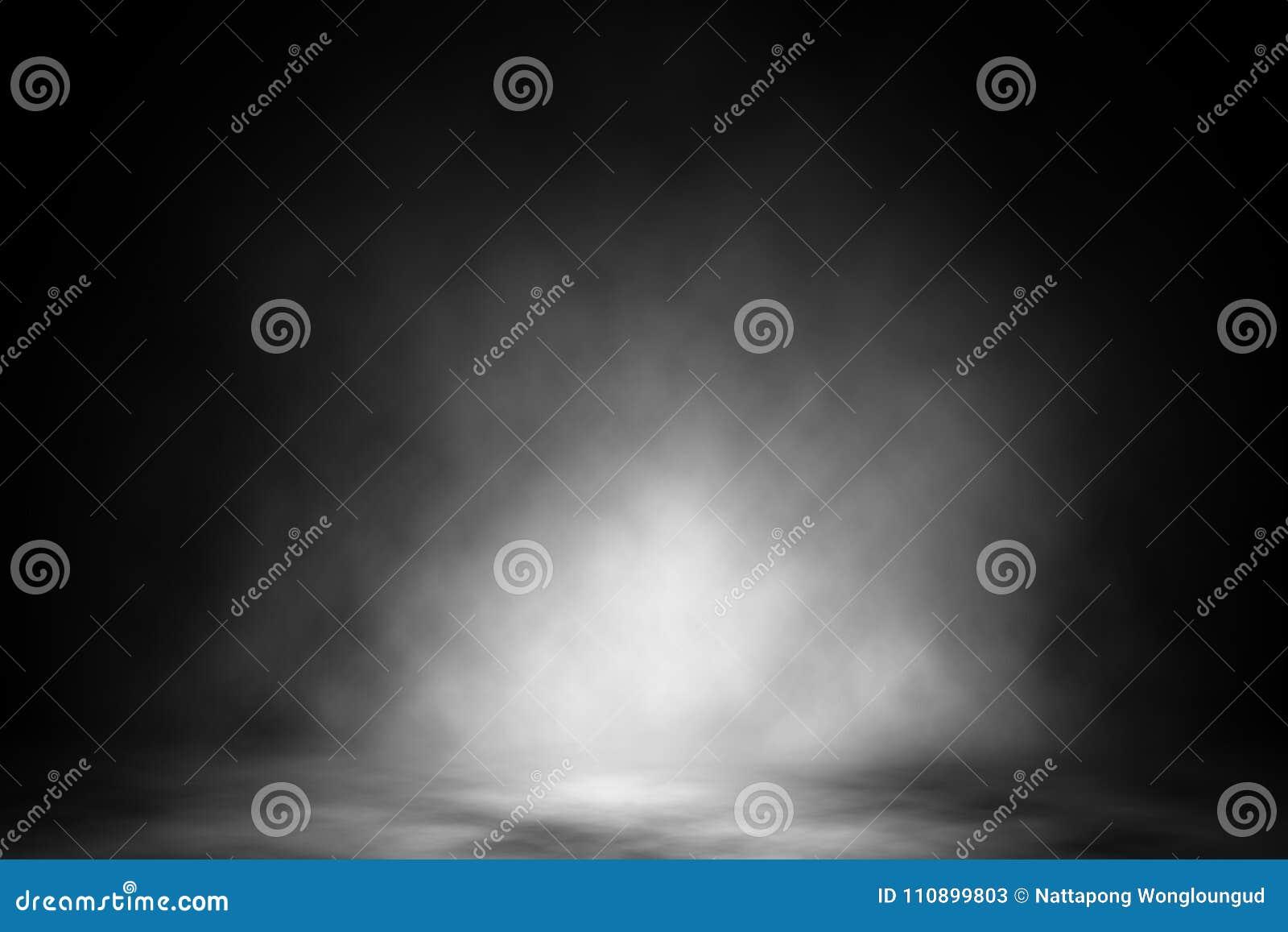 Белый фон ночного клуба дыма фары