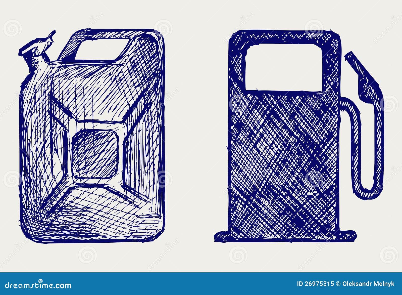 Канистра с бензином рисунок