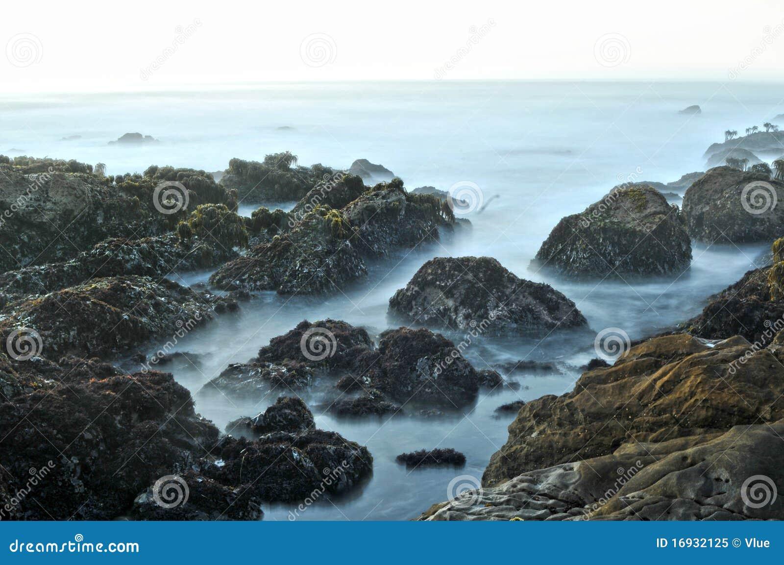 берег моря океана пляжа утесистый