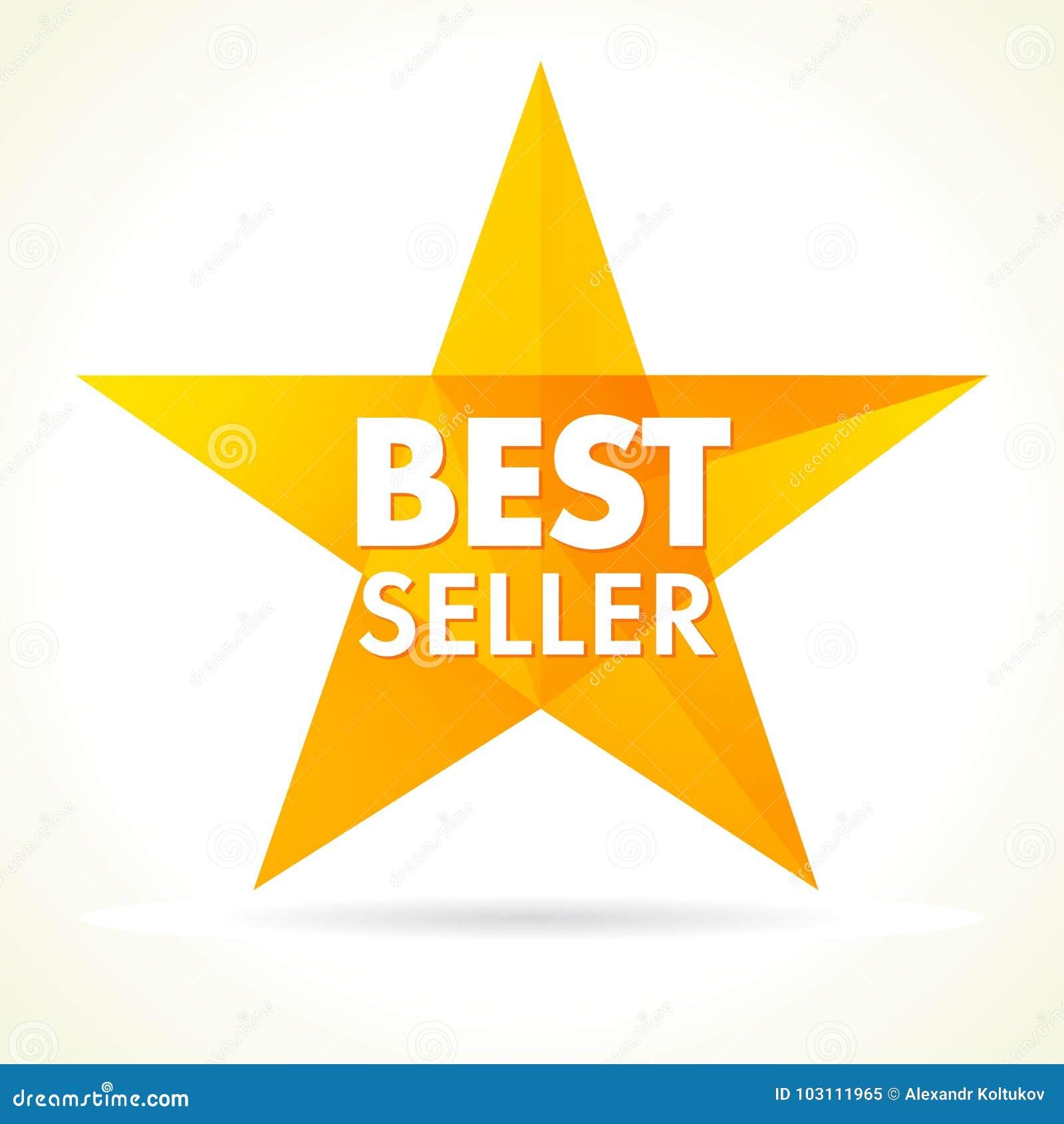 Бестселлер награждает логотип звезды