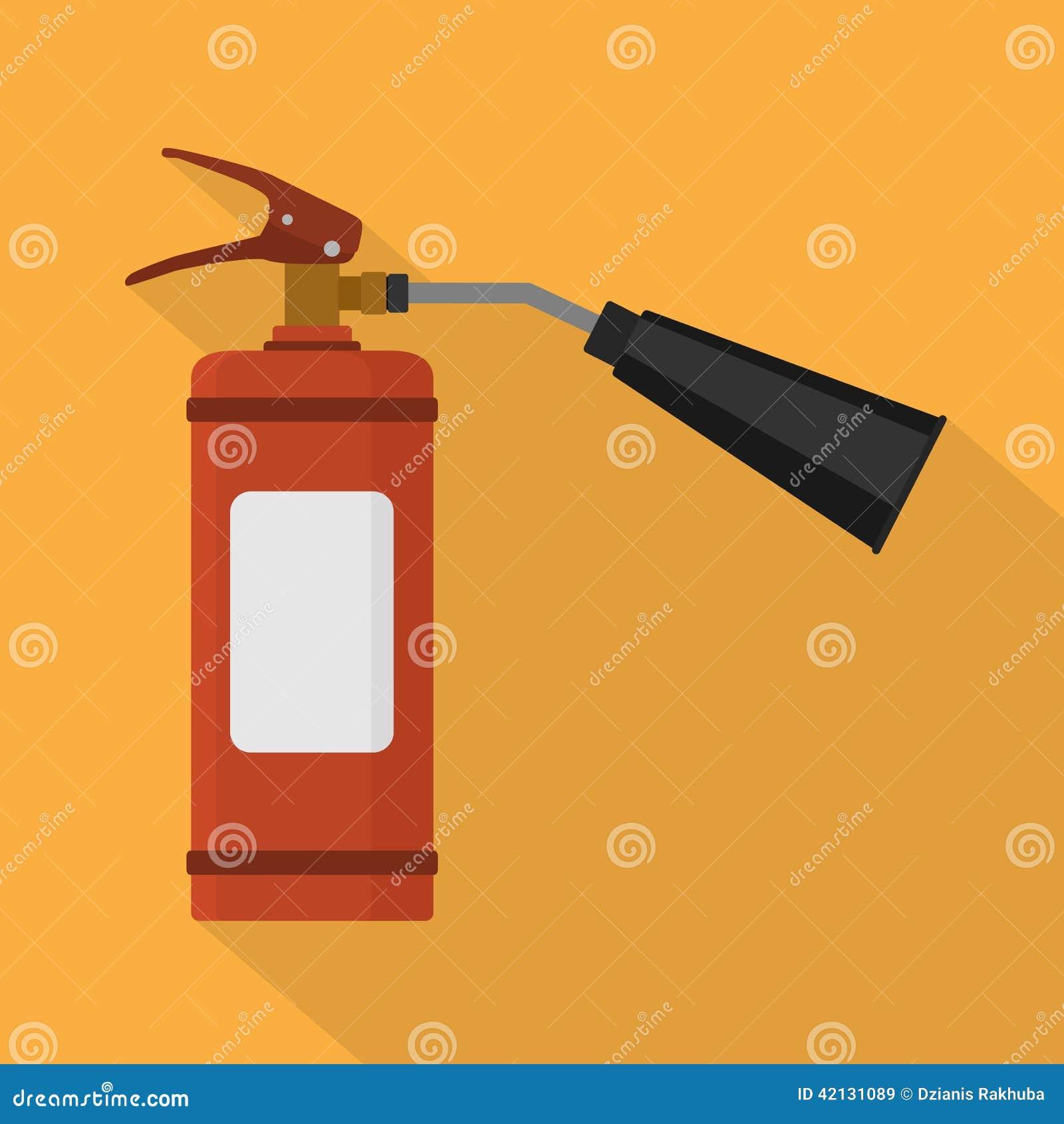 белизна пожара гасителя предпосылки 3d изолированная изображением