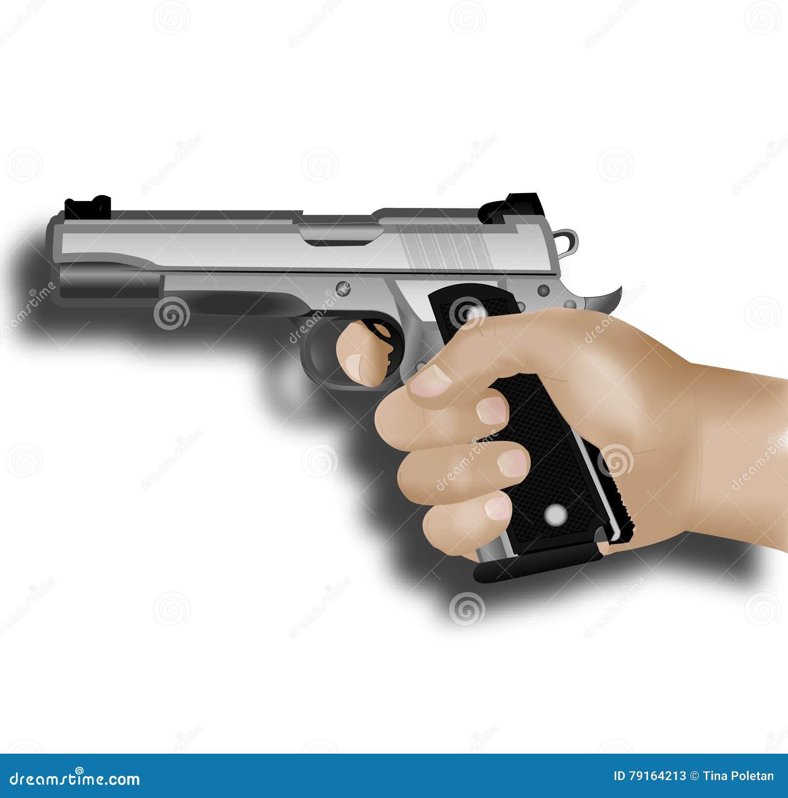 белизна руки пушки предпосылки изолированная удерживанием