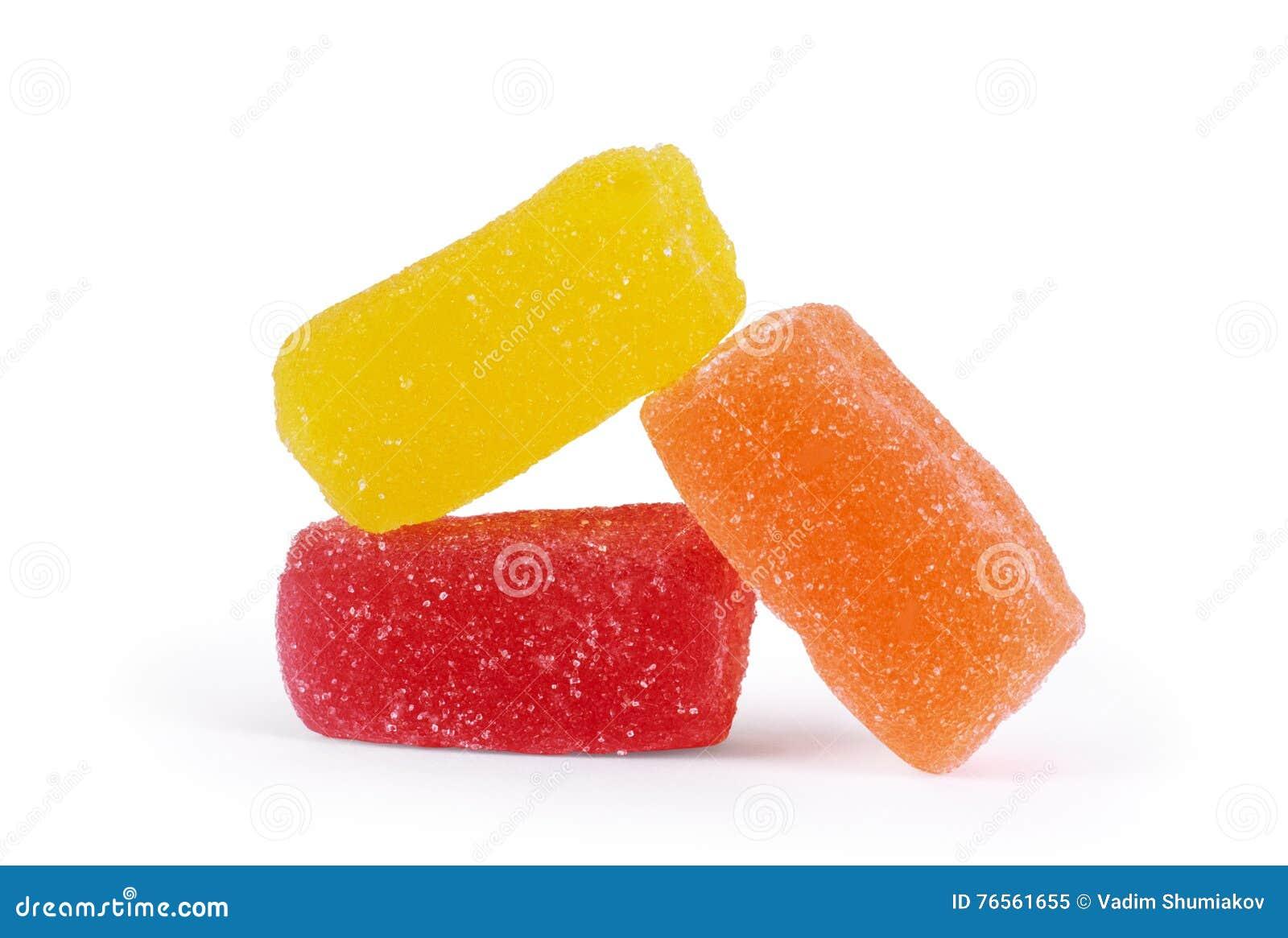 белизна студня конфет цветастая изолированная