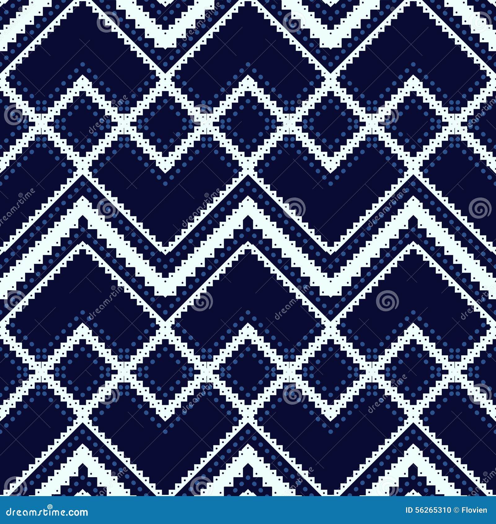 Бело-голубая геометрическая картина