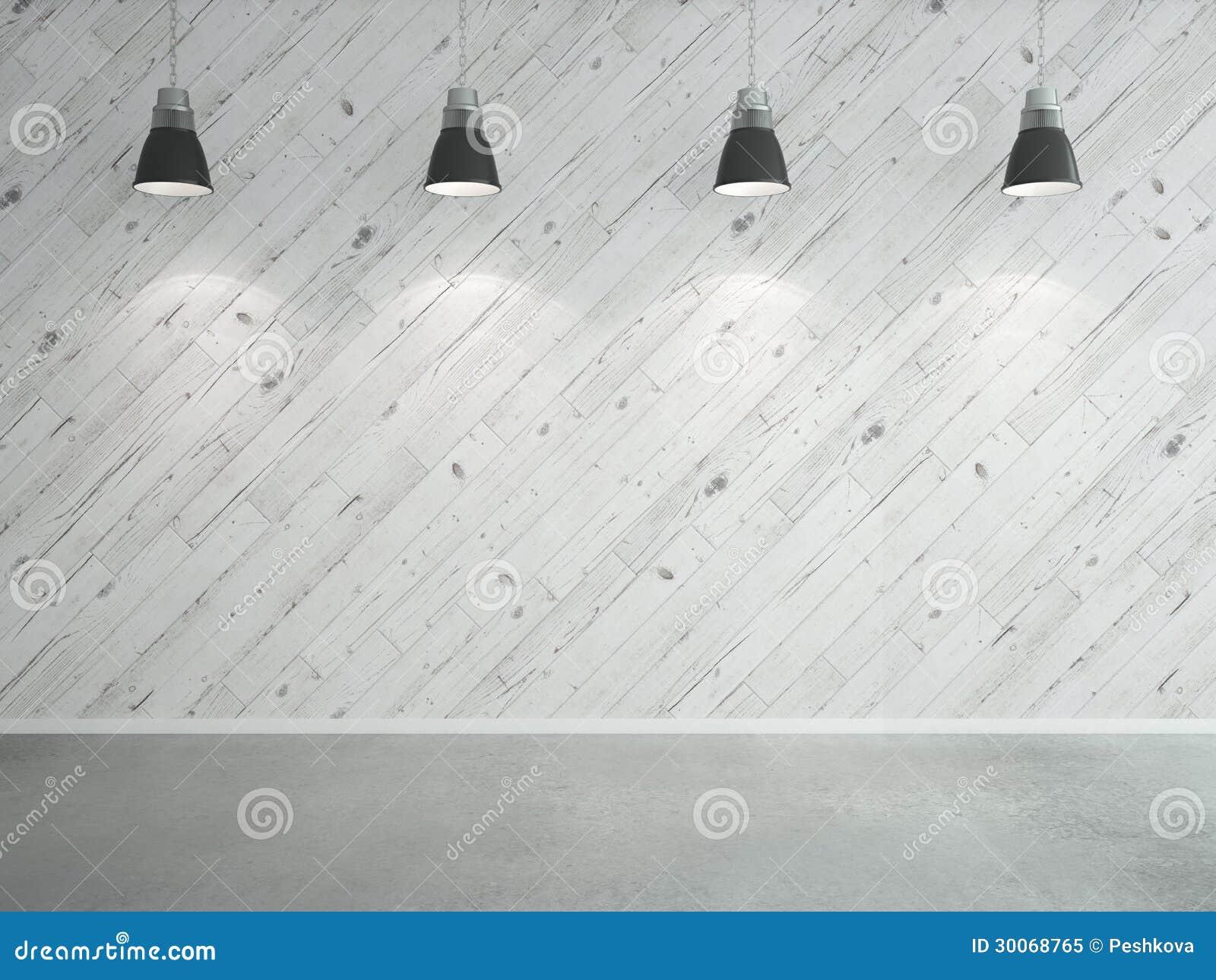 Прокатанные стена и светильники