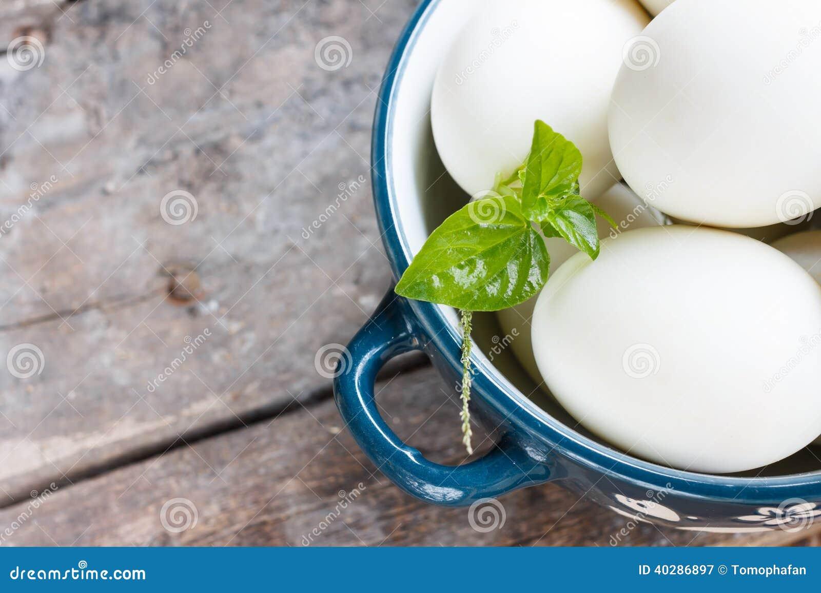 Белые яичка в шаре