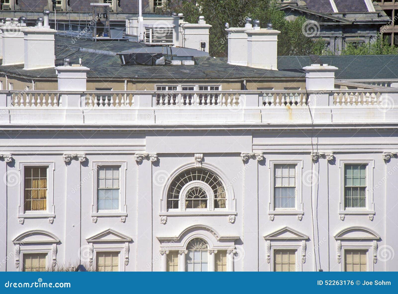 Белый Дом, взгляд частных кварталов, Вашингтон, DC