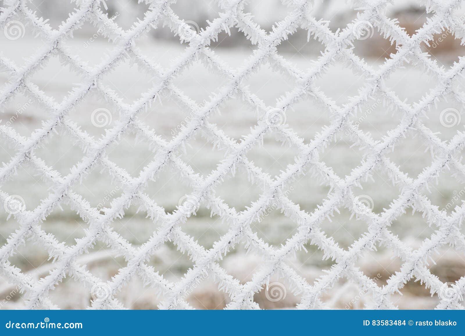 Белый, который замерли снег шелушится предпосылка
