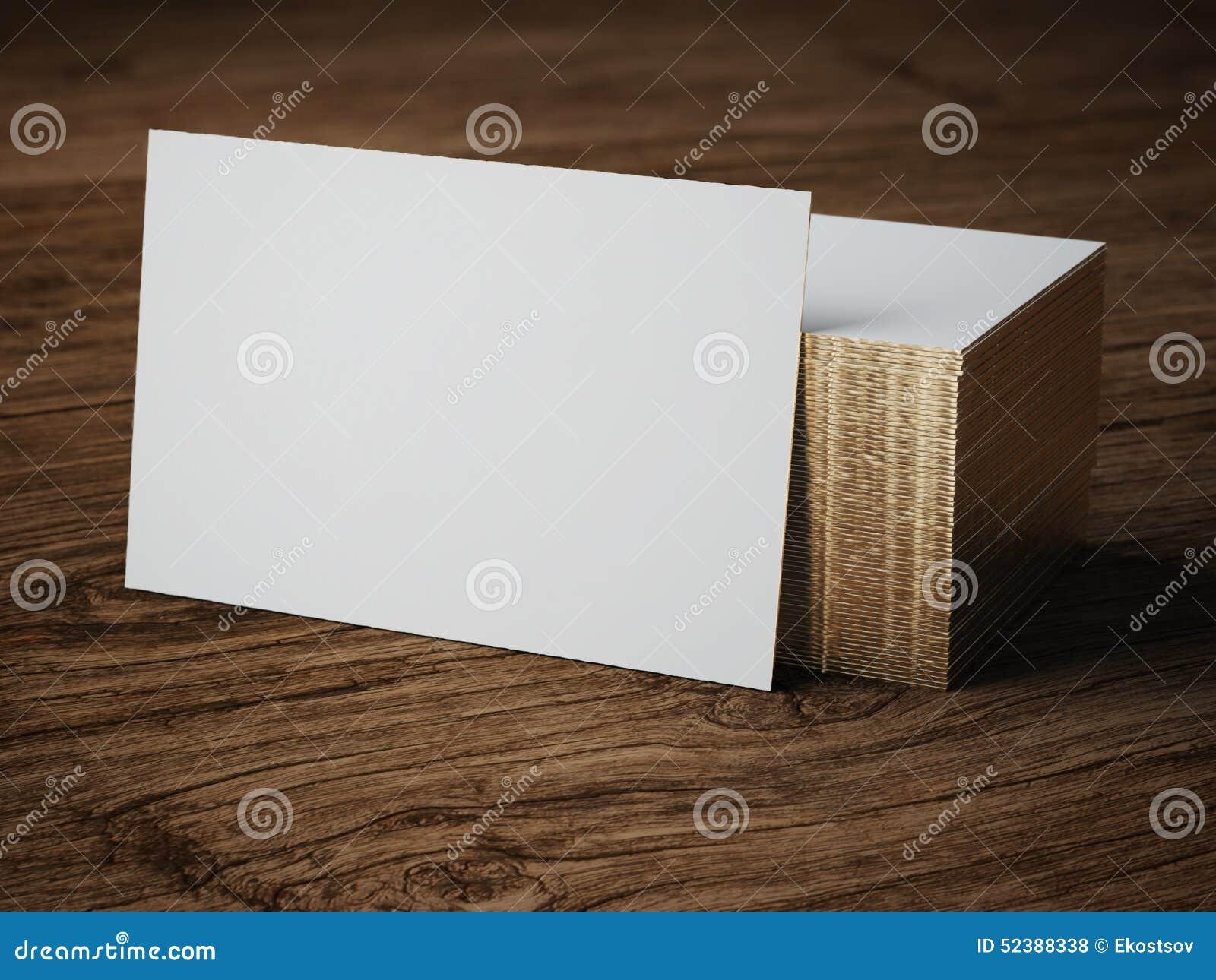 Белый модель-макет визитной карточки