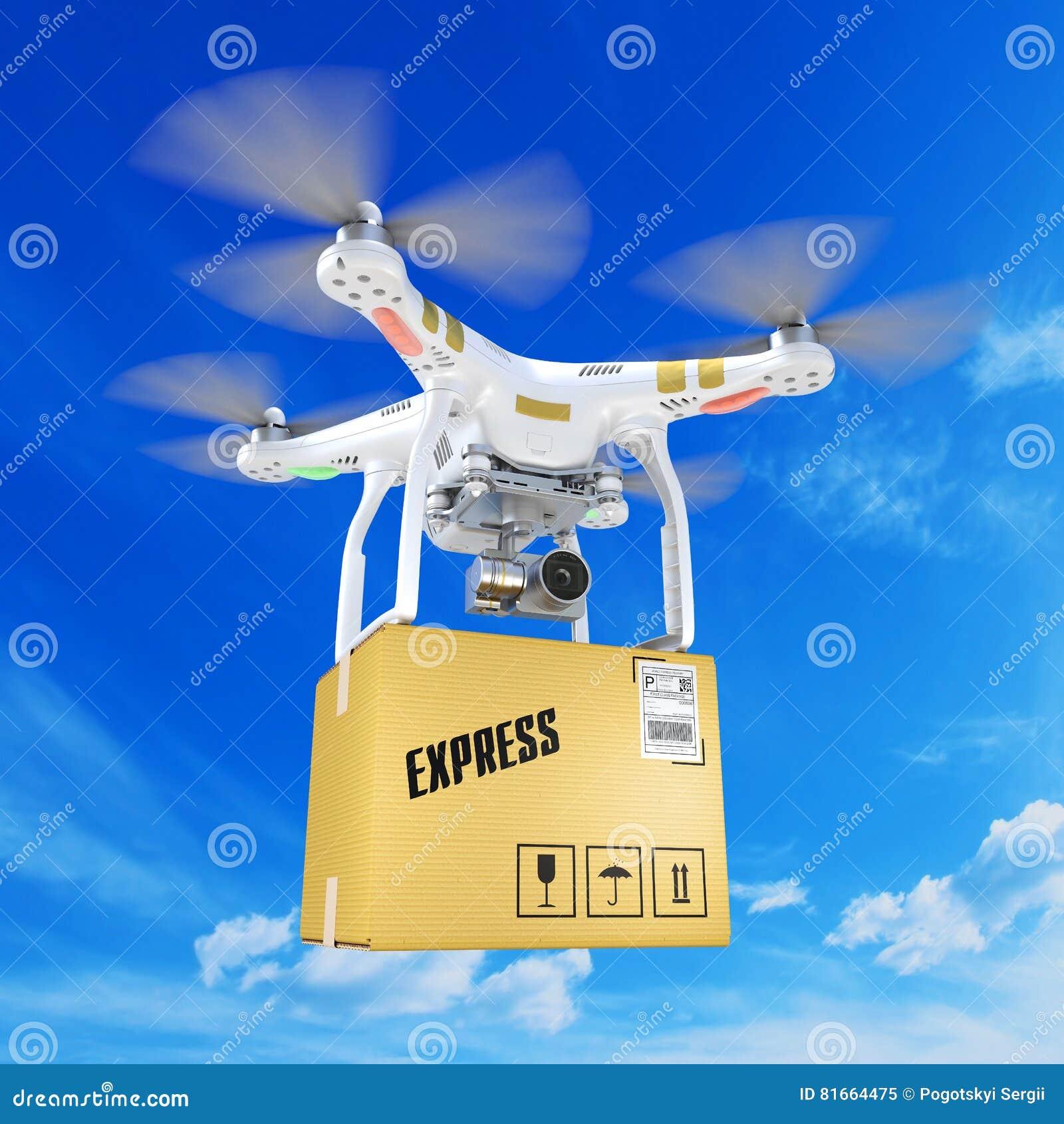 Белый пересылая трутень quadrocopter с видеокамерой в clou