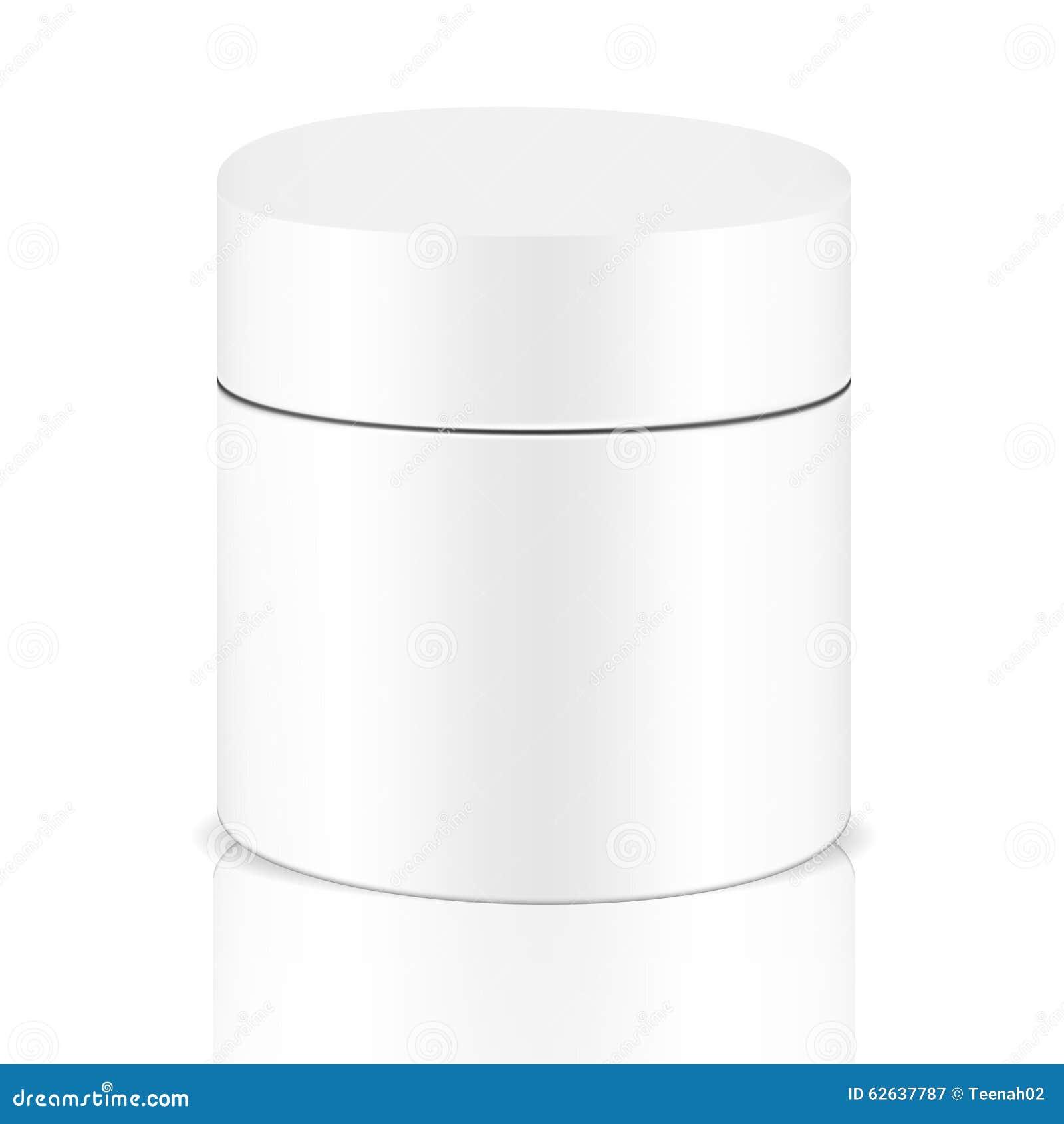Белый серый круглый контейнер