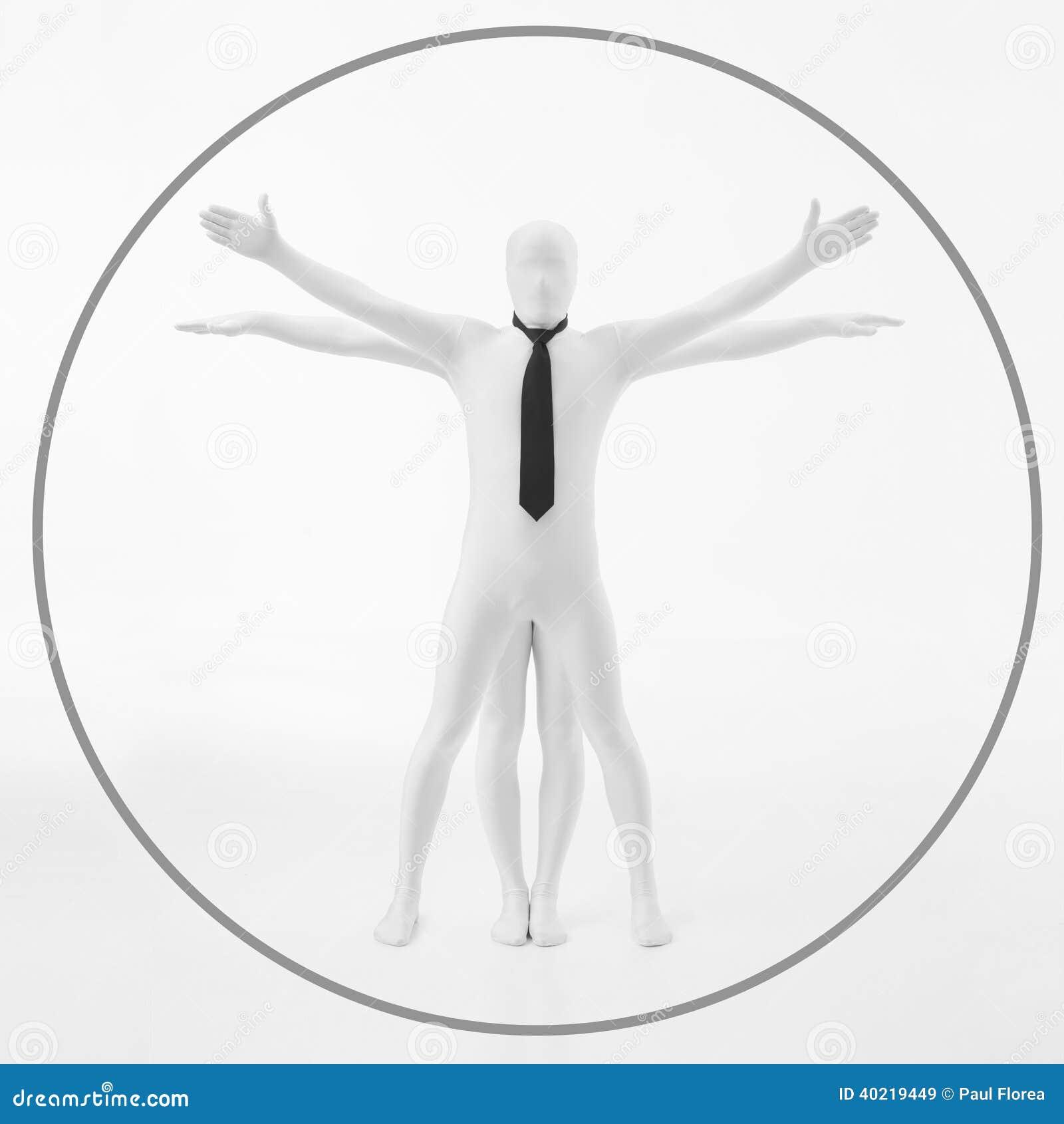 Белый человек Davinci vitruvian