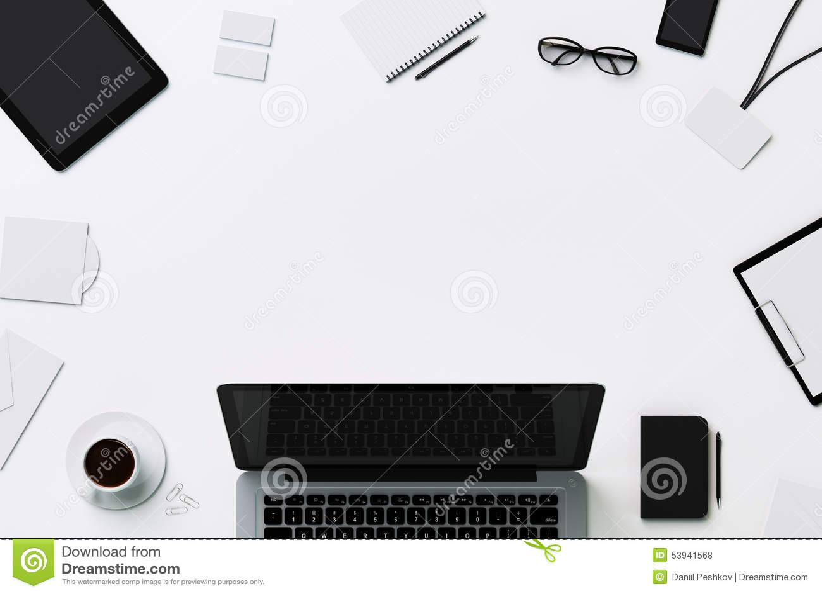 Белый шаблон для клеймя идентичности с copyspace