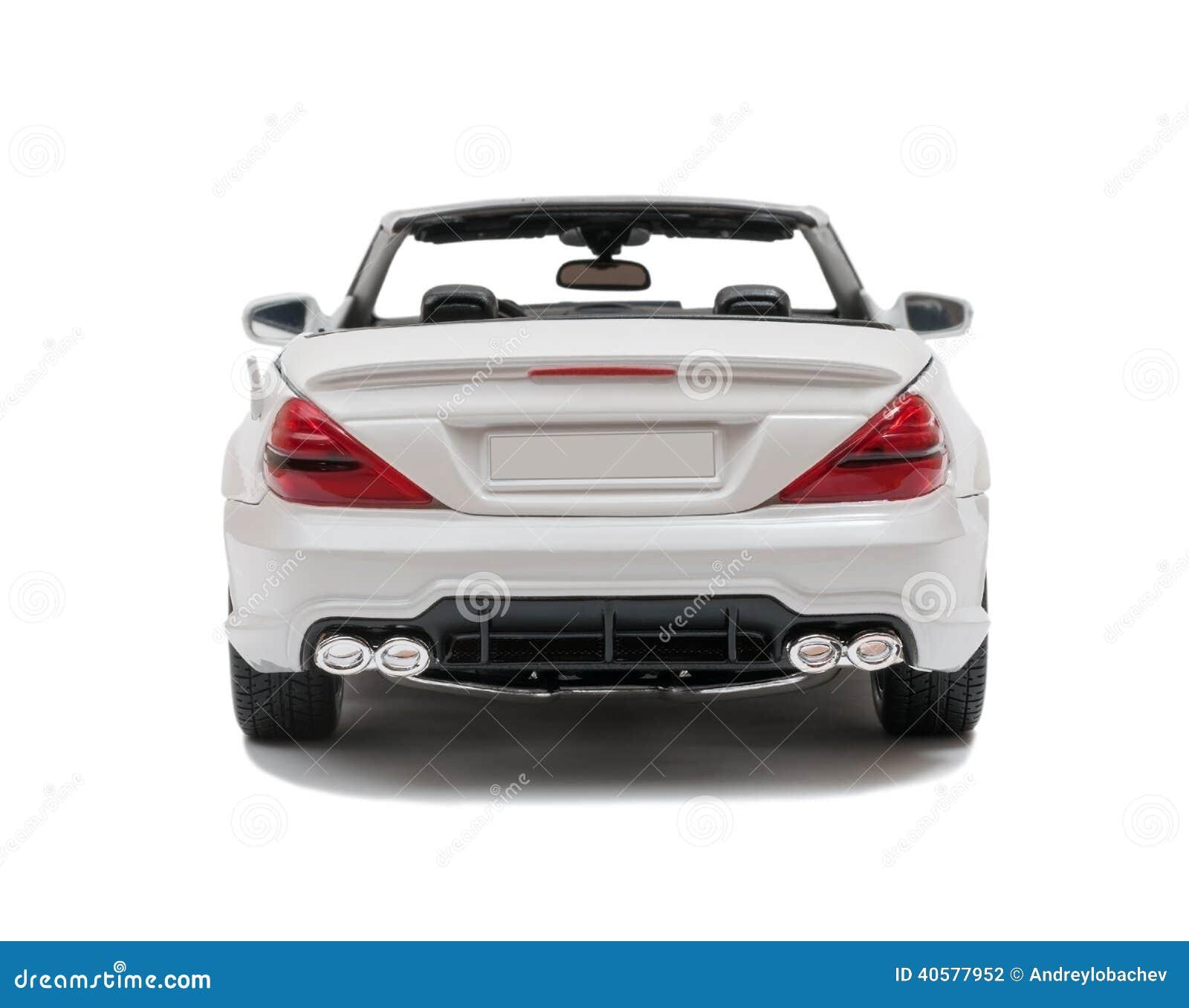 Белый cabriolet автомобиля