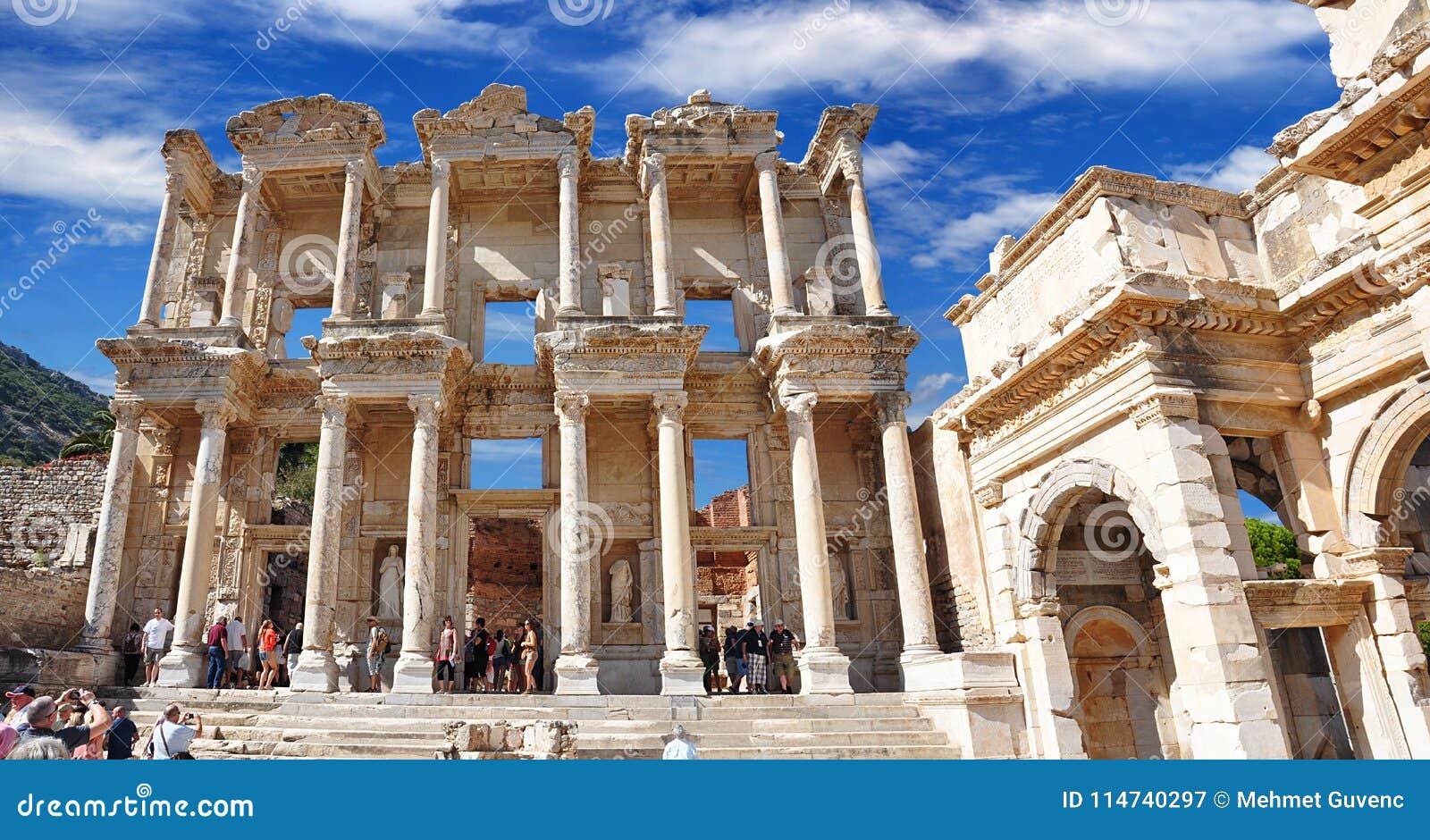 Библиотека Градуса цельсия в древнем городе Ephesus Izmir Турция