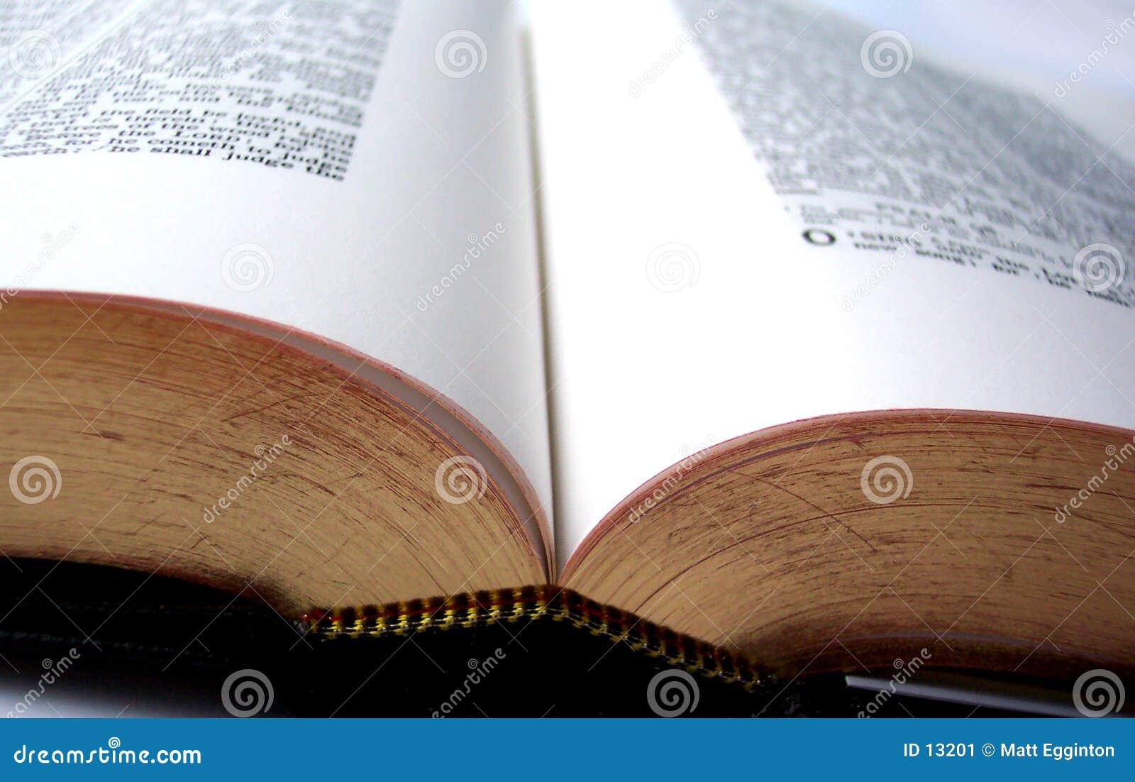 библия открытая