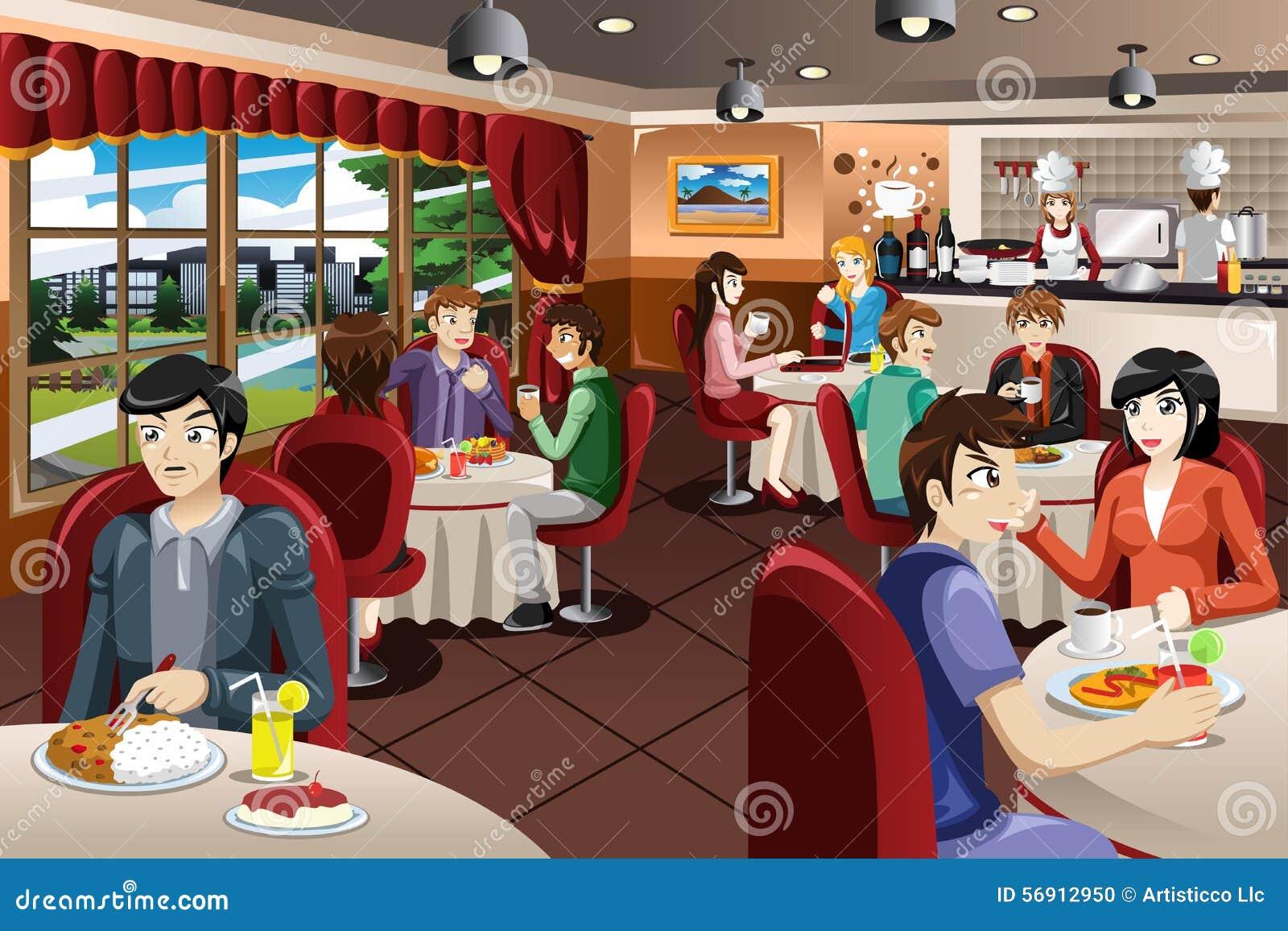 Бизнесмены имея обед совместно