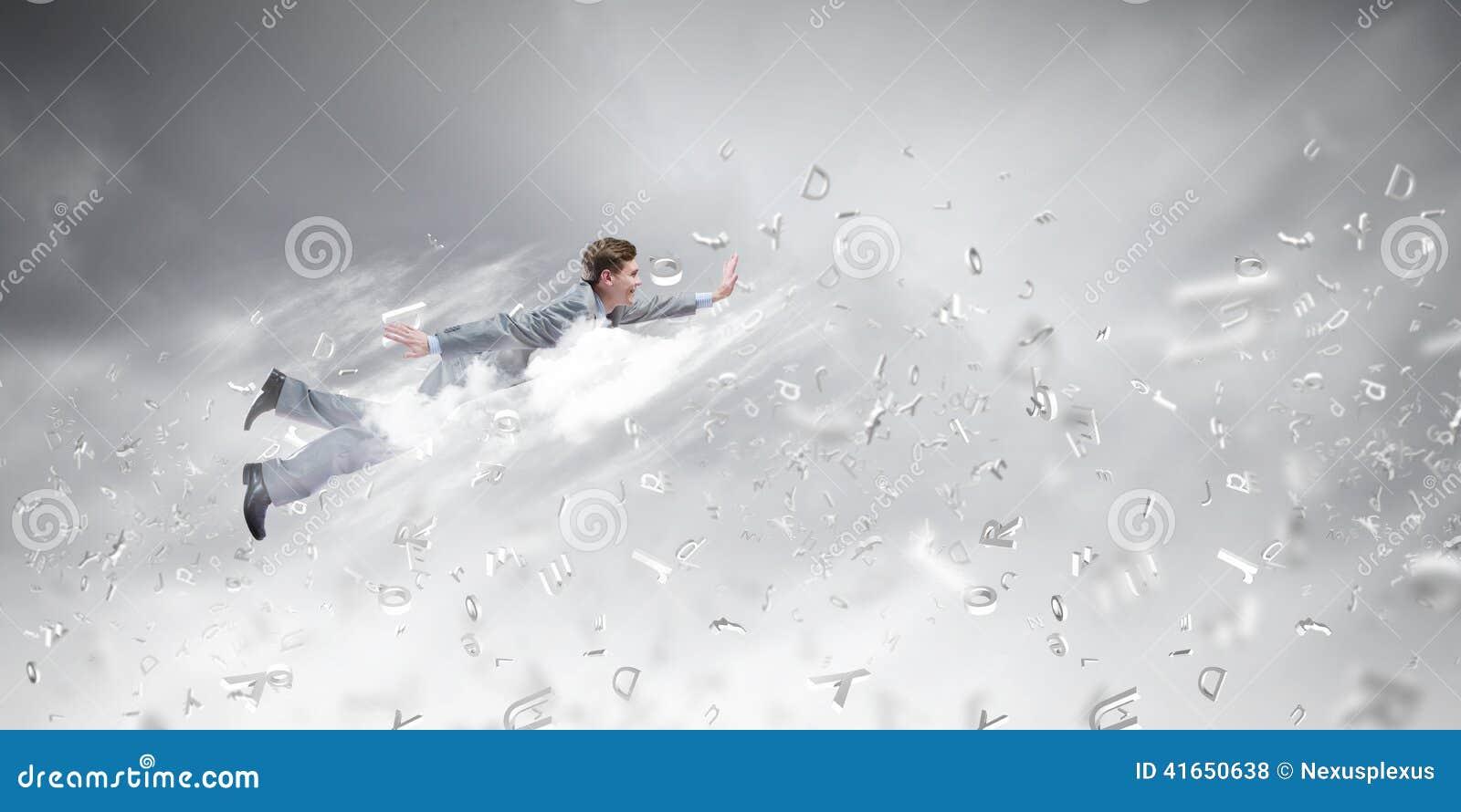 Бизнесмен летания