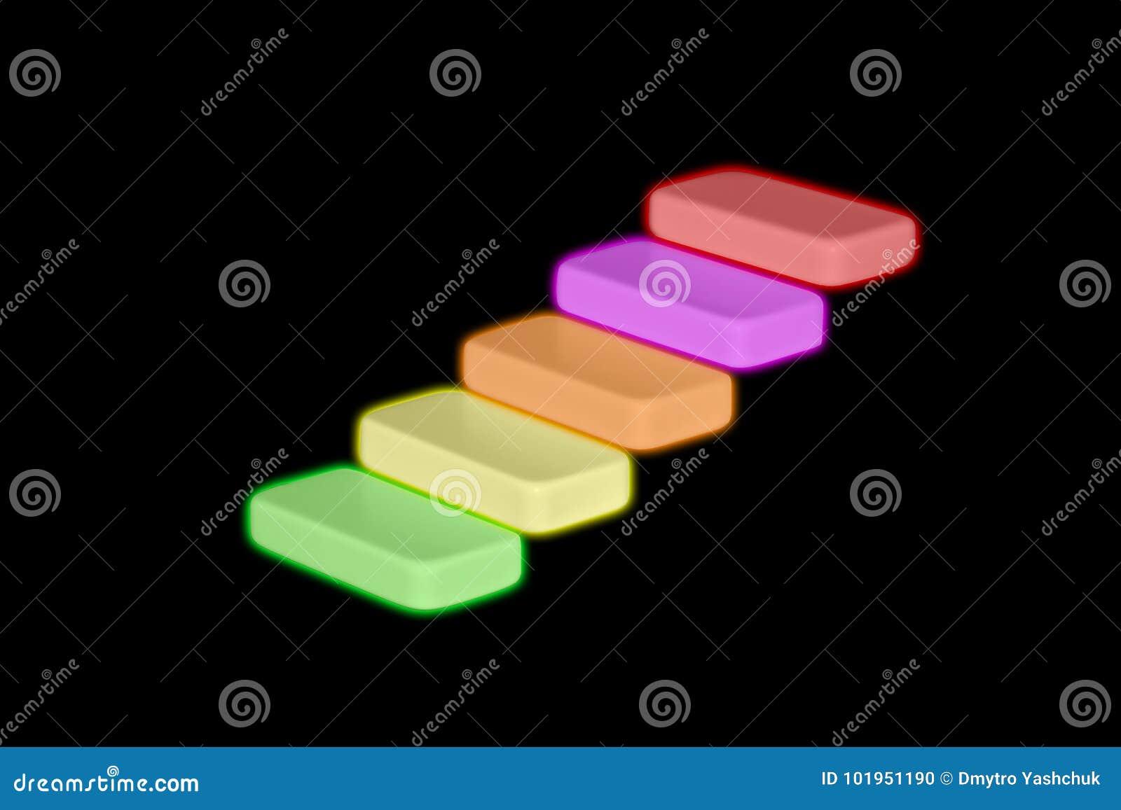 Бизнесмен или студент идя его пальцы вверх по шагам походя лестница установили в деревенских деревянных досках в схематическом из
