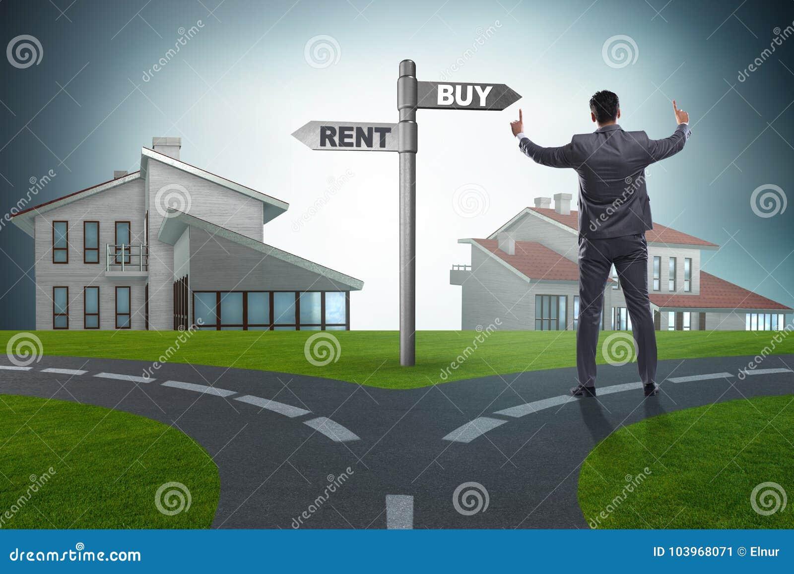 Бизнесмен на приобретении и арендовать betweem перекрестков