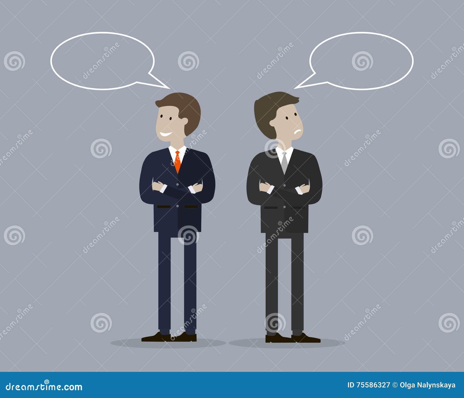 Бизнесмен 2 с беседой пузыря