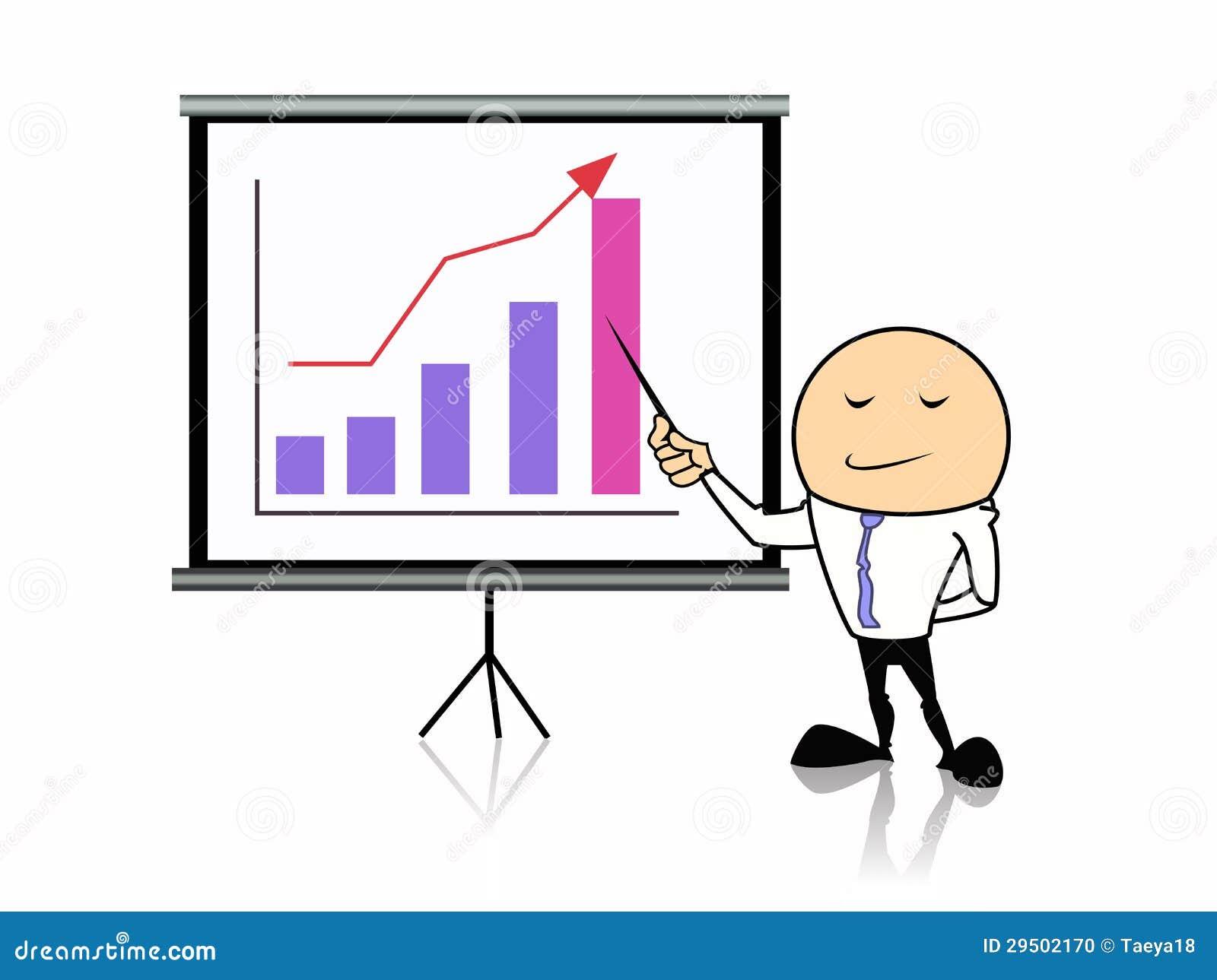 Бизнесмен с диаграммой