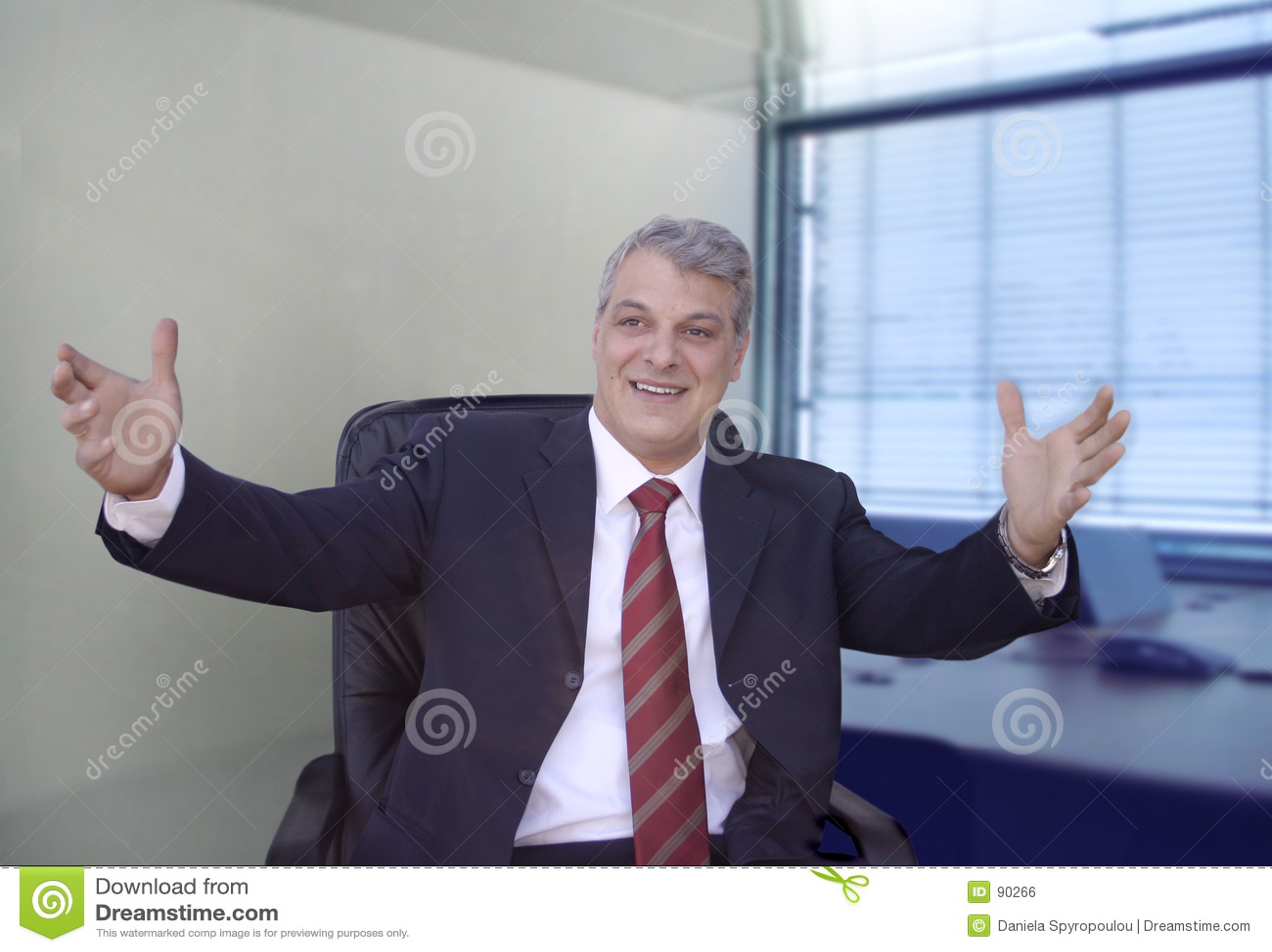 бизнесмен gesticulating