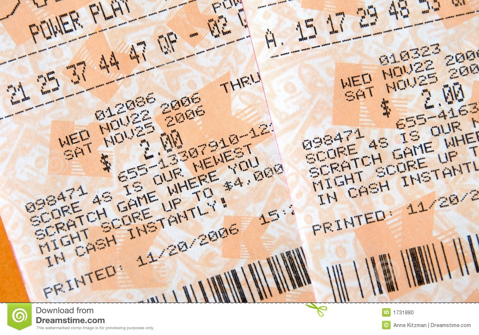 билеты лотереи