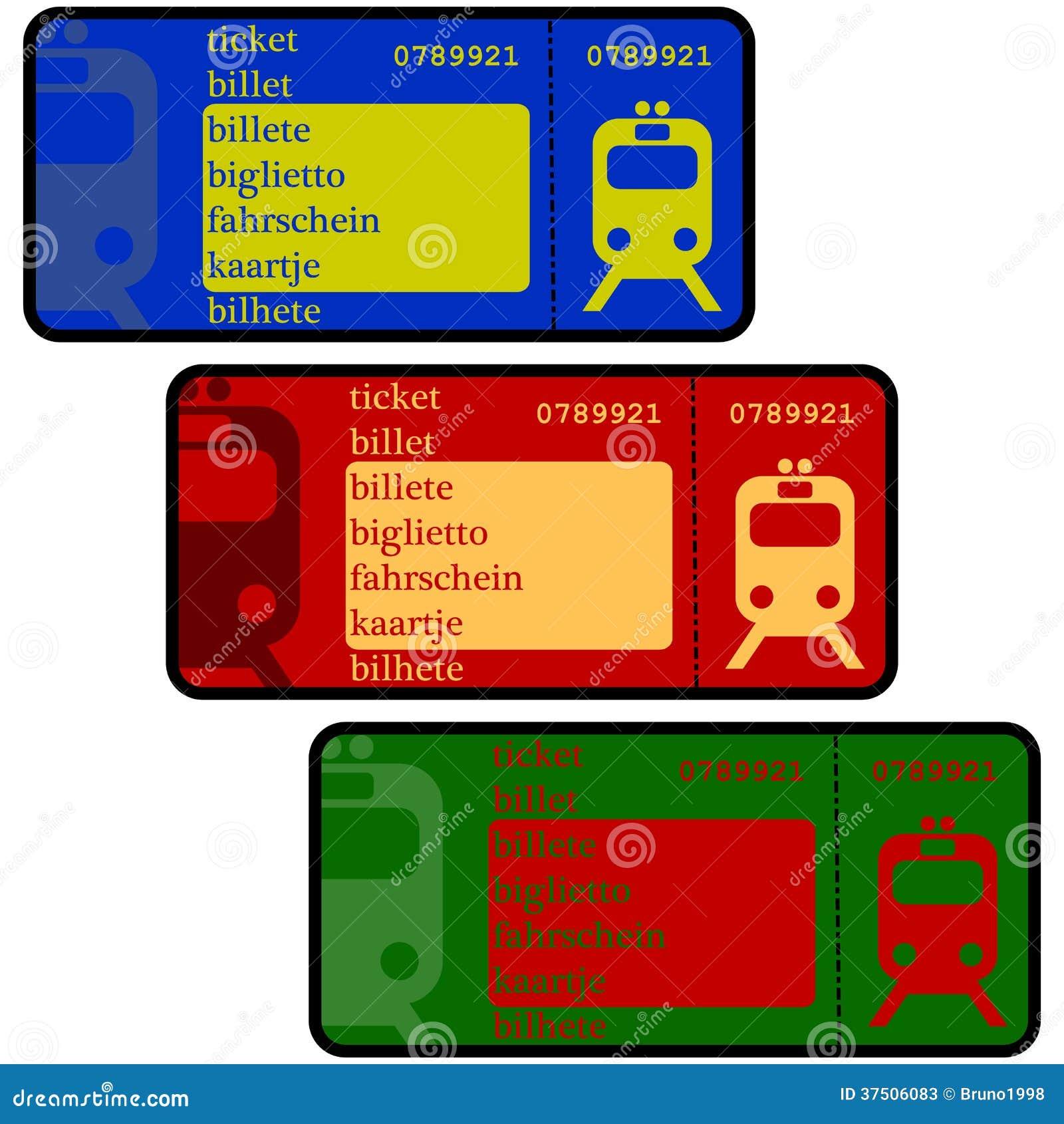 Рисунки билетов на поезд