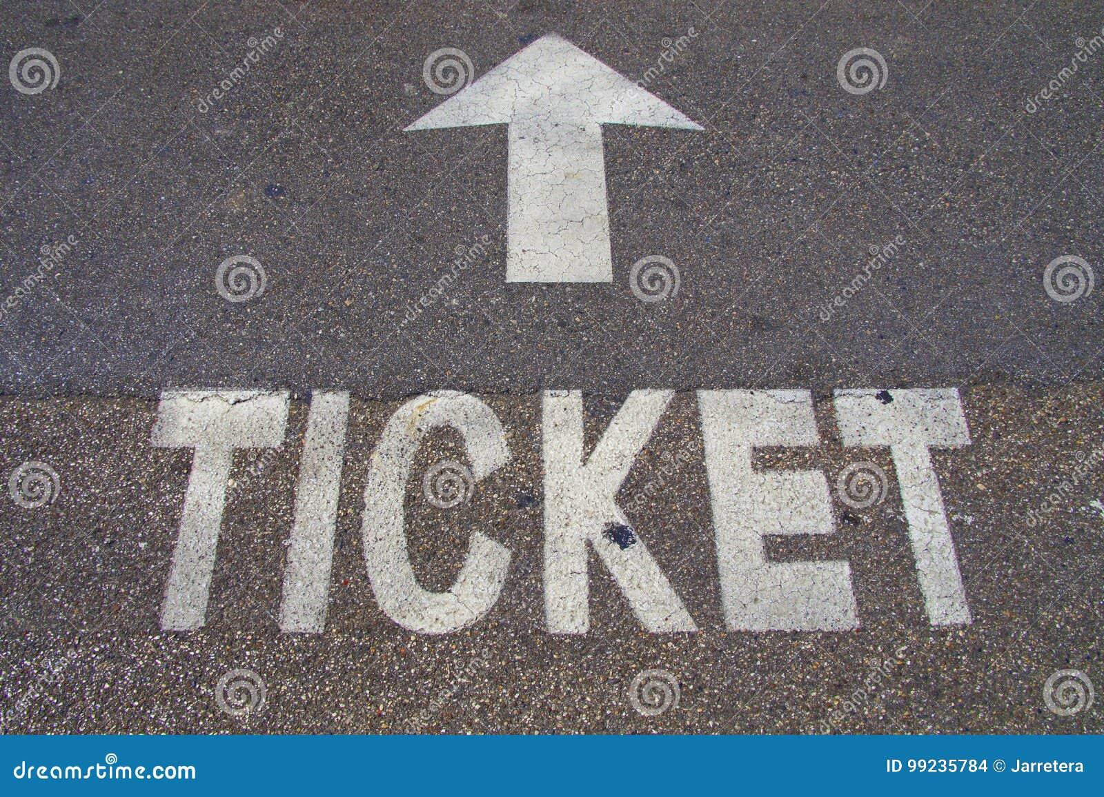Билет и стрелка