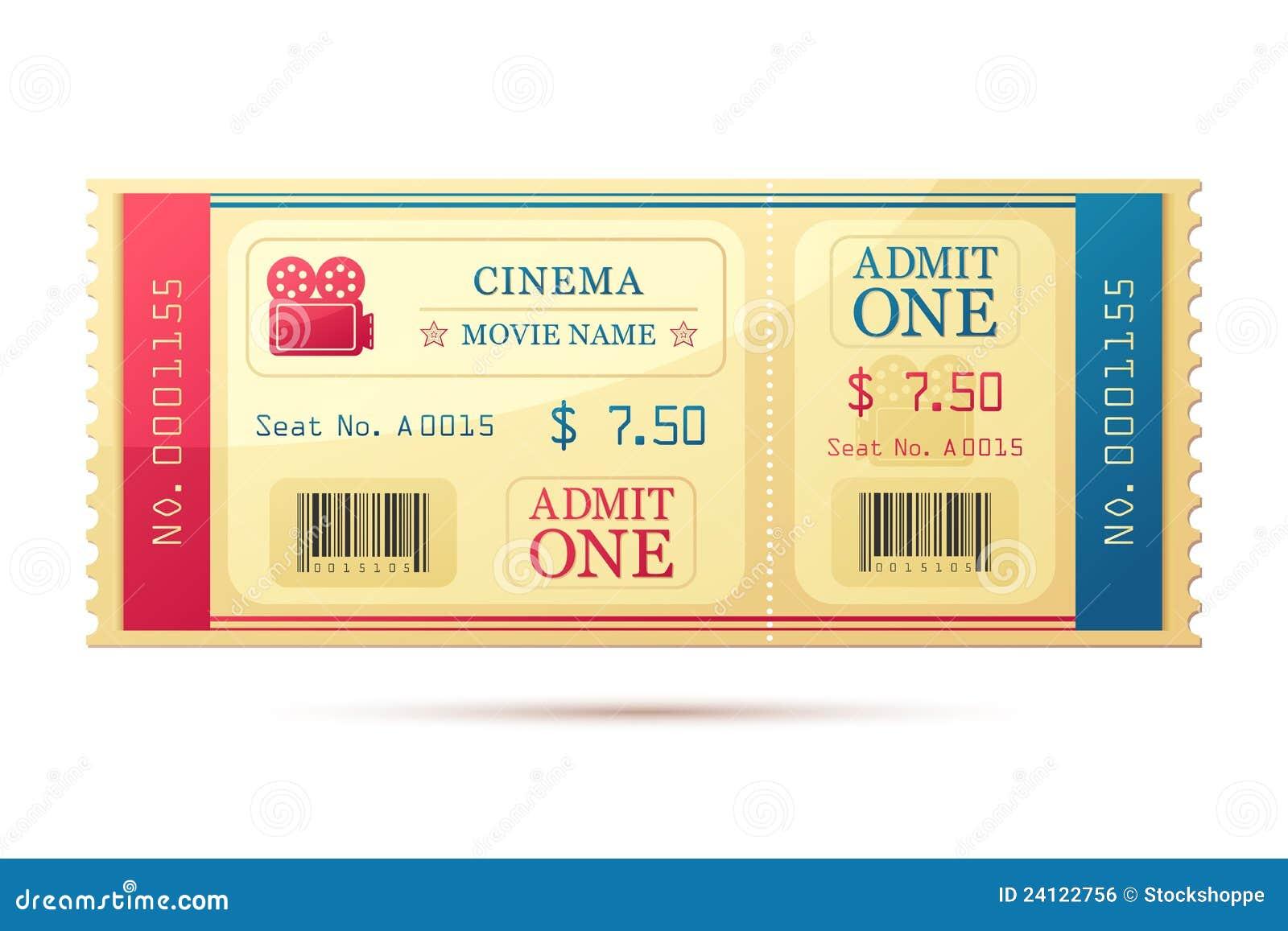 Билет в кино шаблон купить онлайн билет в цирк алматы