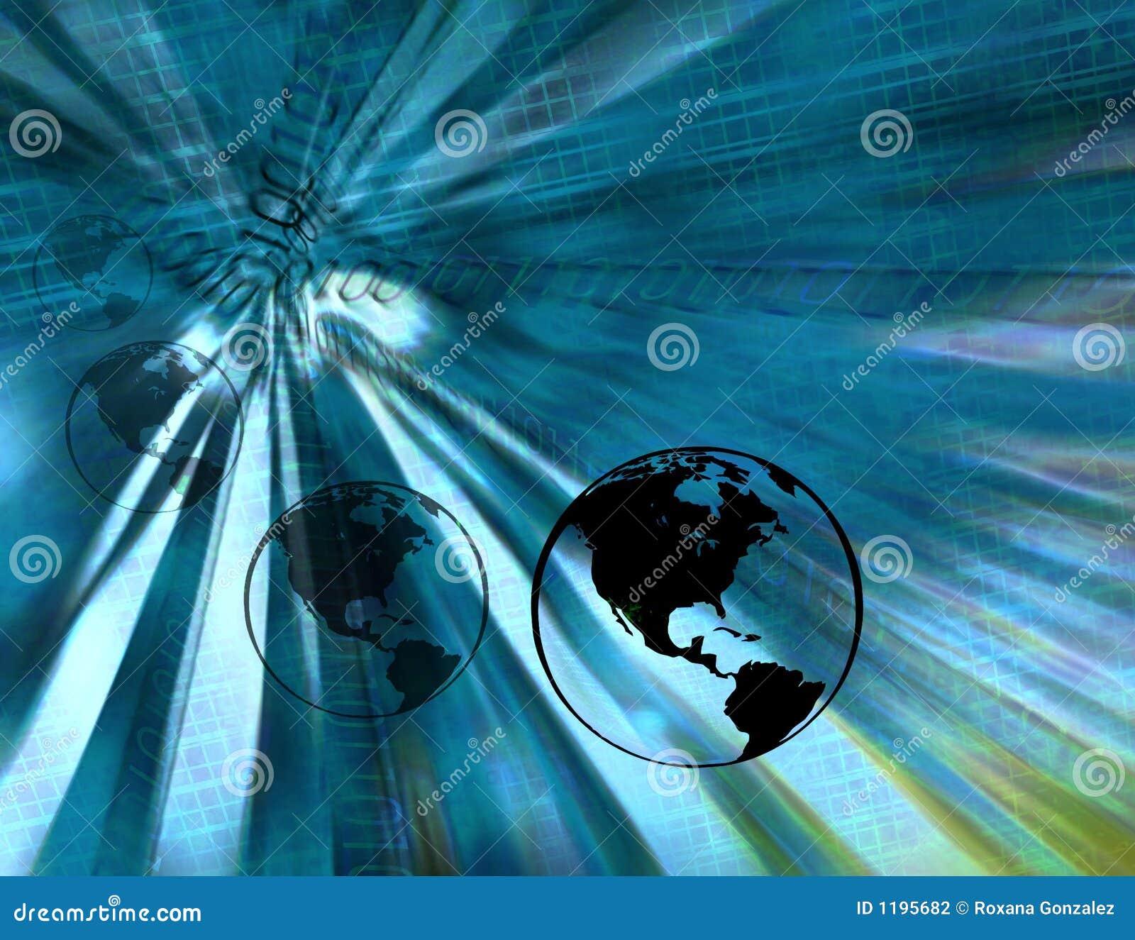бинарные голубые глобусы земли
