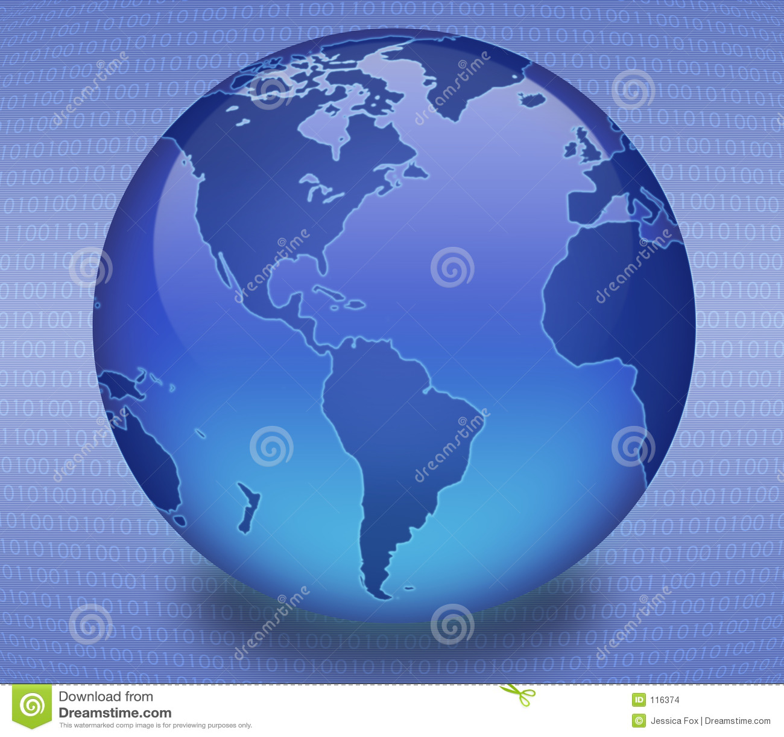 бинарный голубой глобус