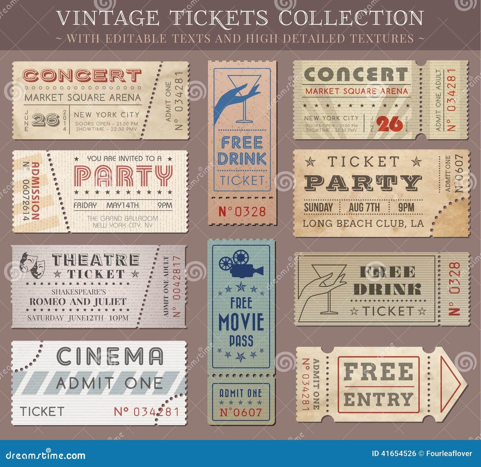 Билеты кино Grunge вектора
