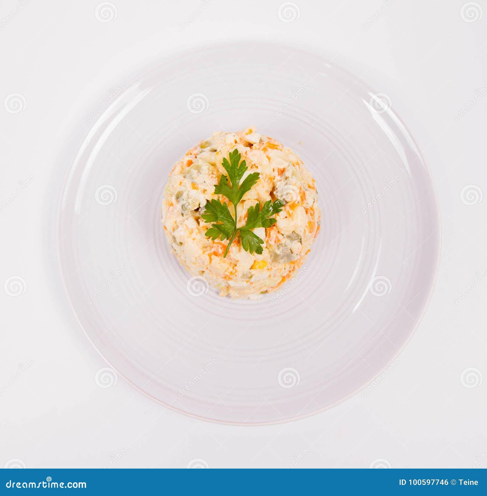 близкий салат снятый вверх по овощу