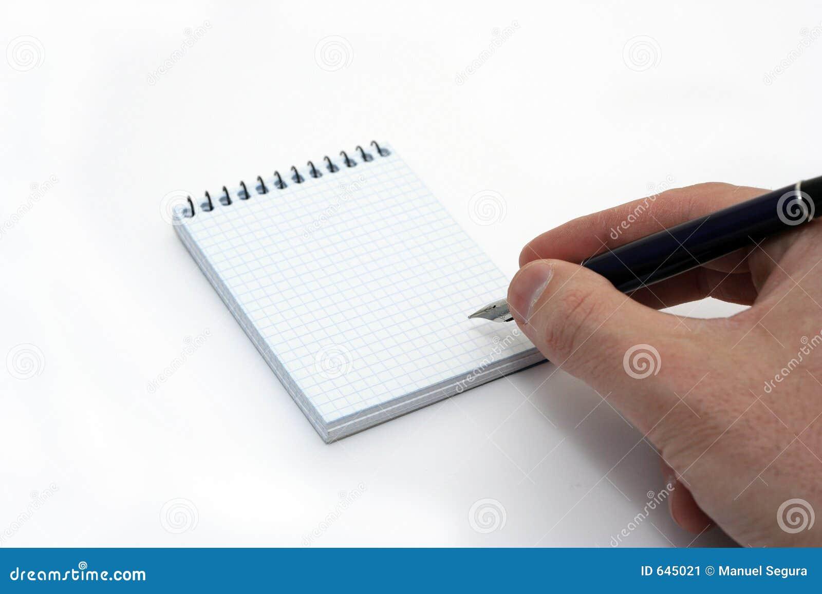 Download блокнот руки стоковое изображение. изображение насчитывающей черный - 645021