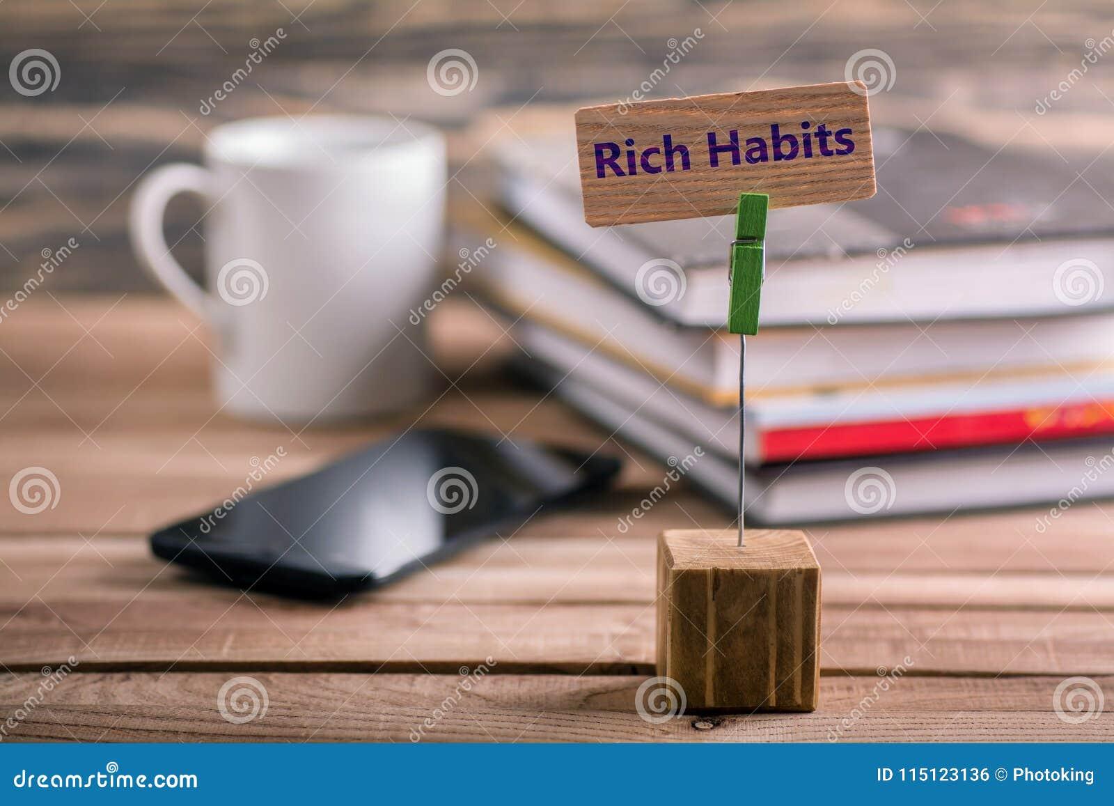 Богатый знак привычек