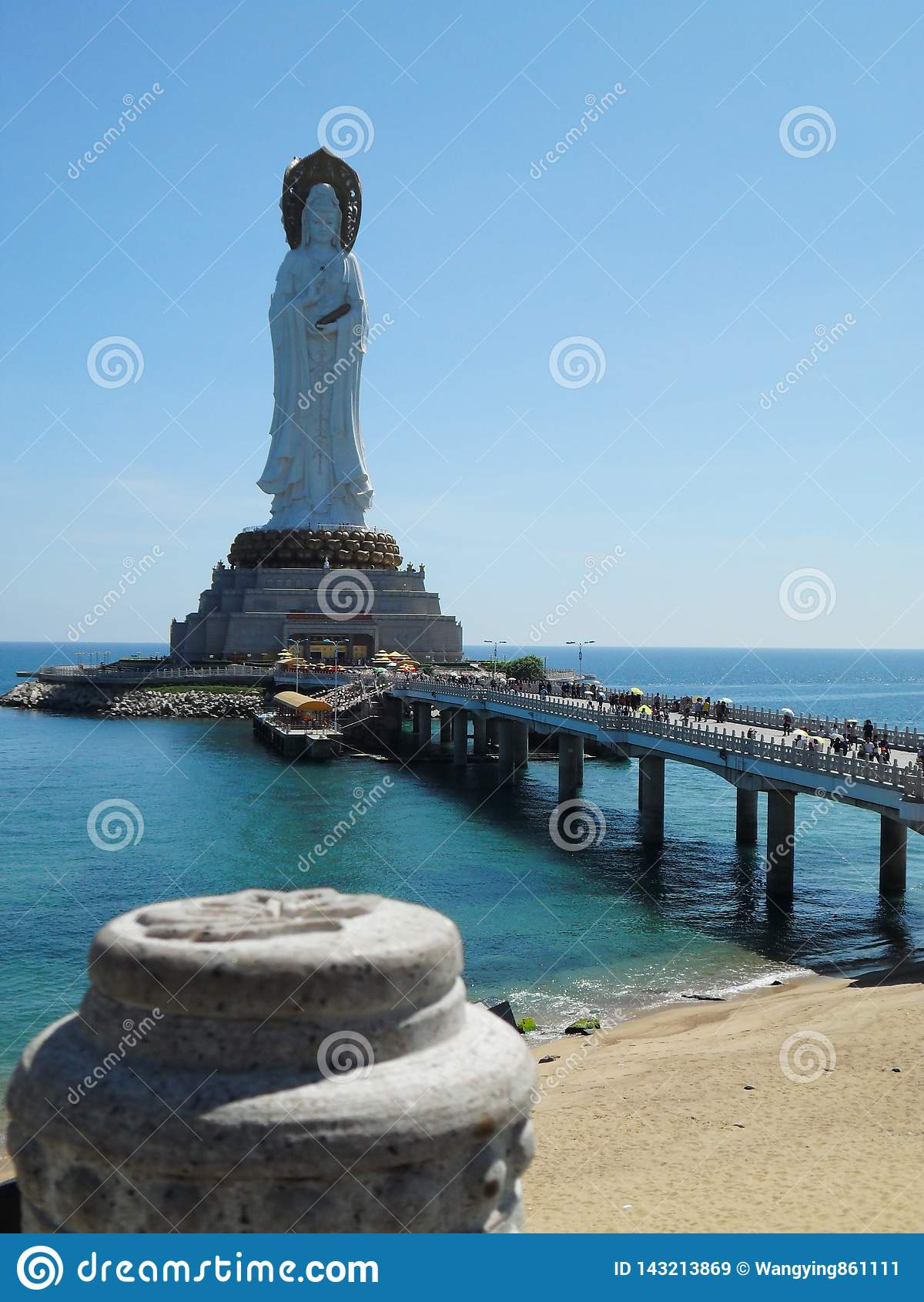 Богиня моря южного Китая Sanya Хайнаня, Китая