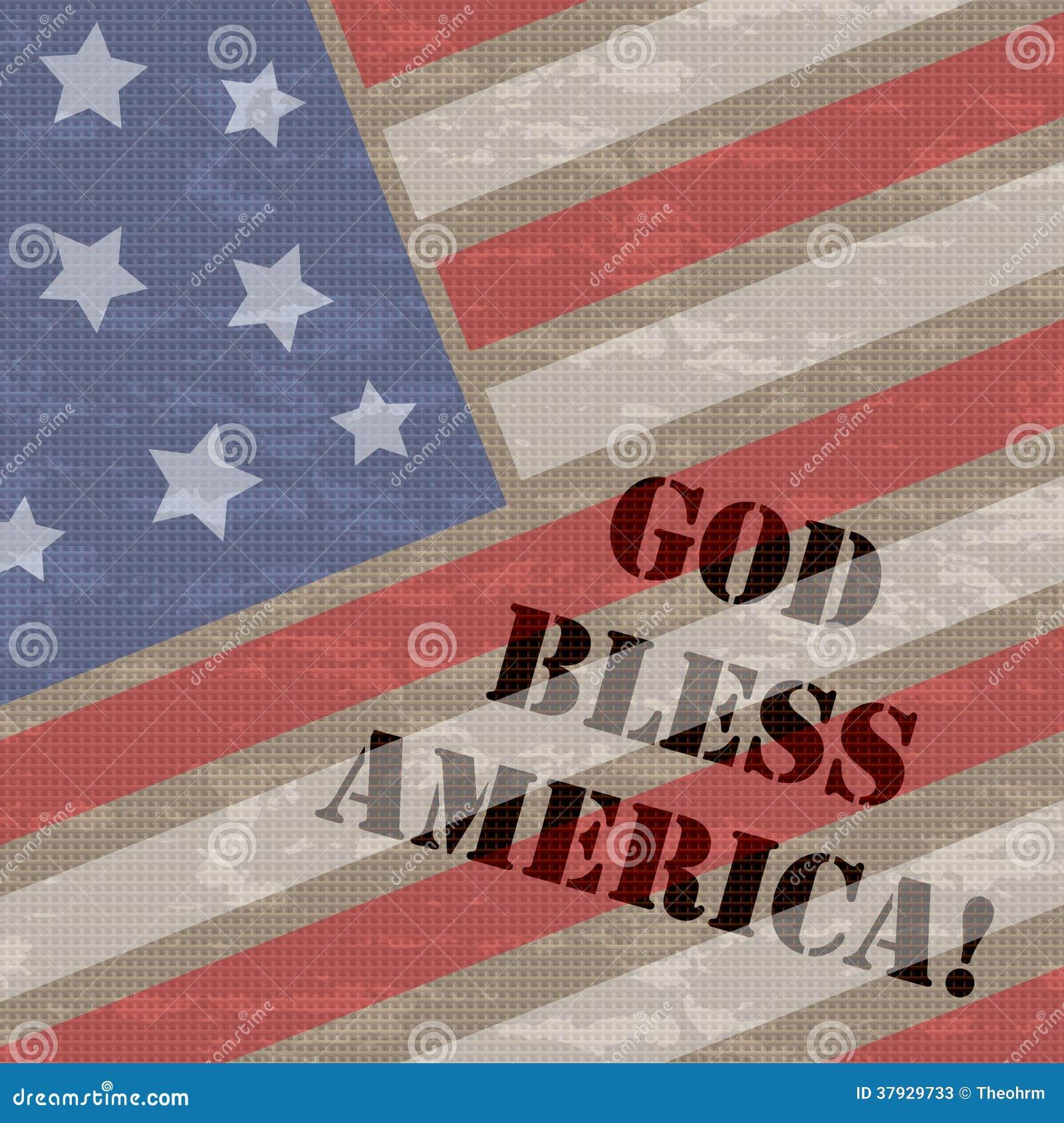 Бог благословляет предпосылку Америки 4-ое июля