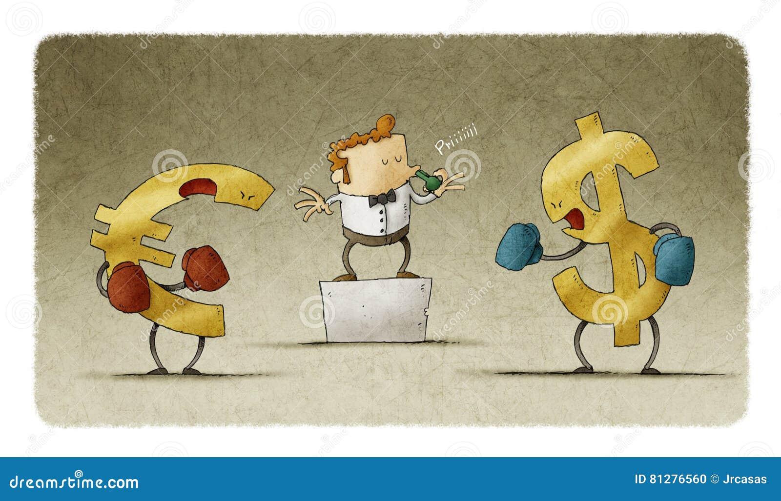 Бокс доллара и евро