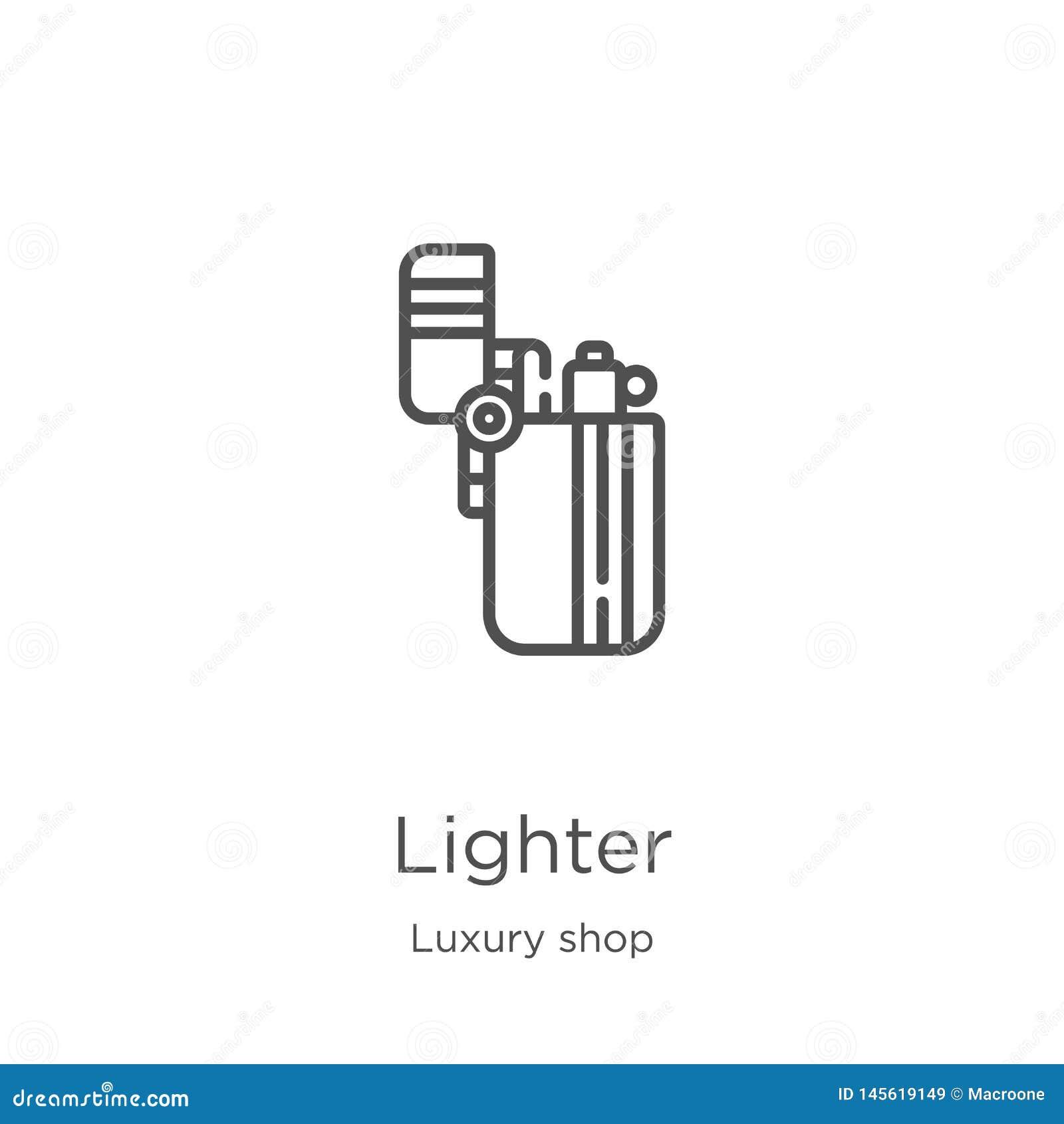 более светлый вектор значка от роскошного собрания магазина Тонкая линия более светлая иллюстрация вектора значка плана План, тон