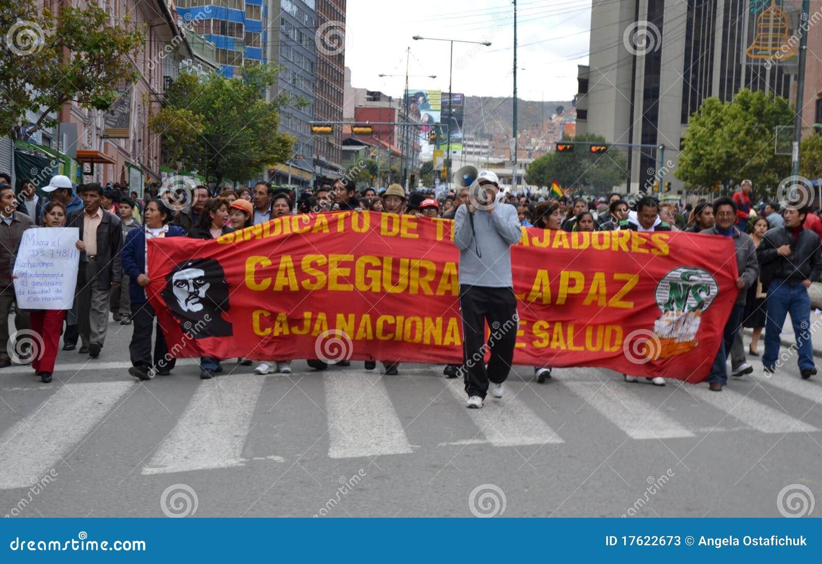 боливийские протестующие
